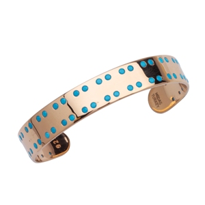 Bangle Bracelet, Nano-Turquoise Cuff Bangle