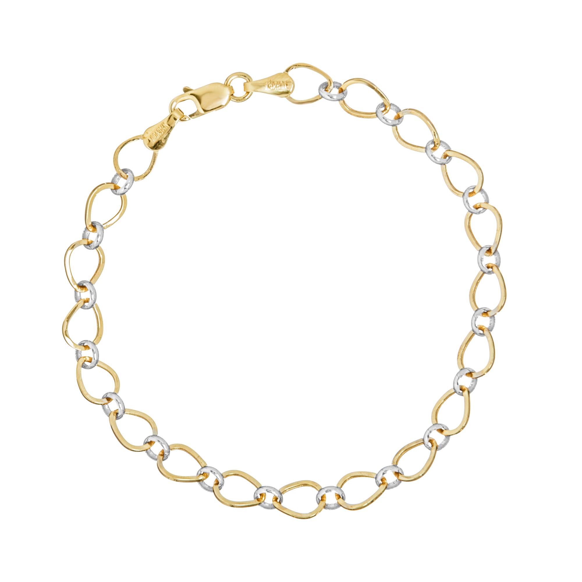 Bracelets, 14K Gold Bracelet, 7.25