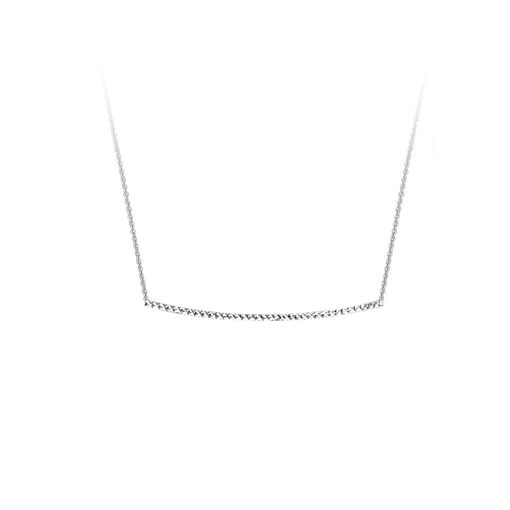 Bar Necklace, 14Kt Gold Bar Necklace 18
