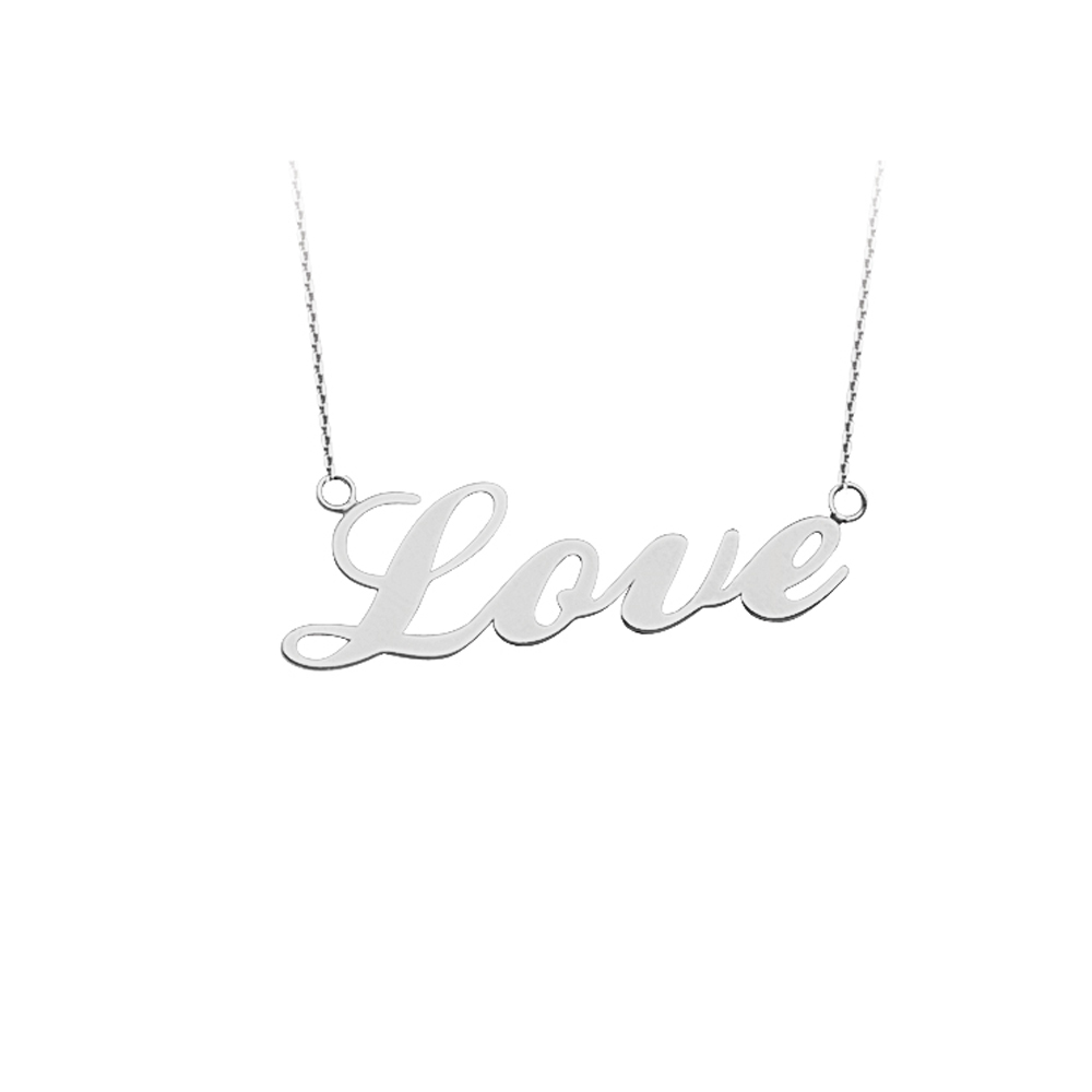 Love Necklace, 14Kt Gold  Love Necklace 18