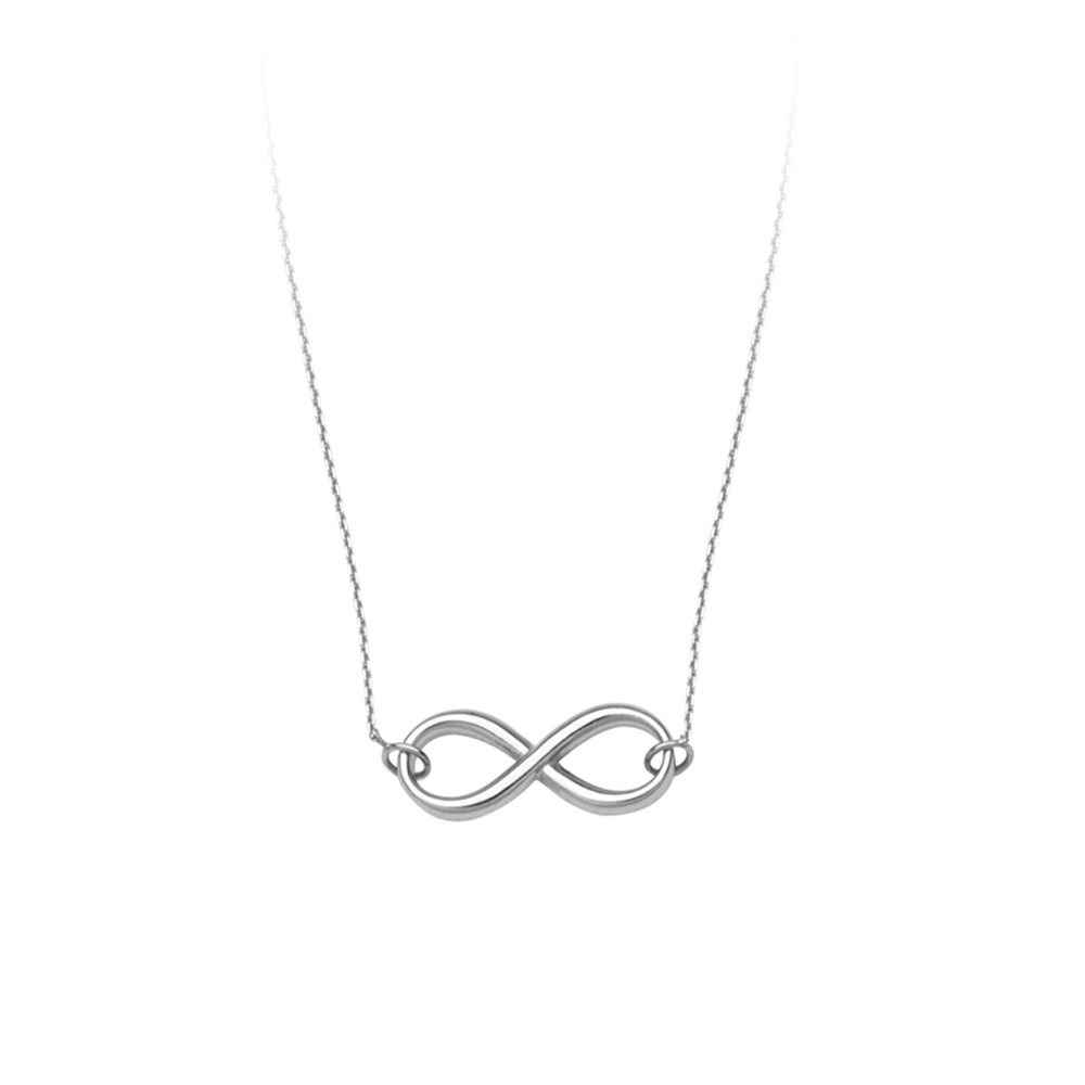 Infinity Necklace, 14Kt Gold  Infinity Necklace 18