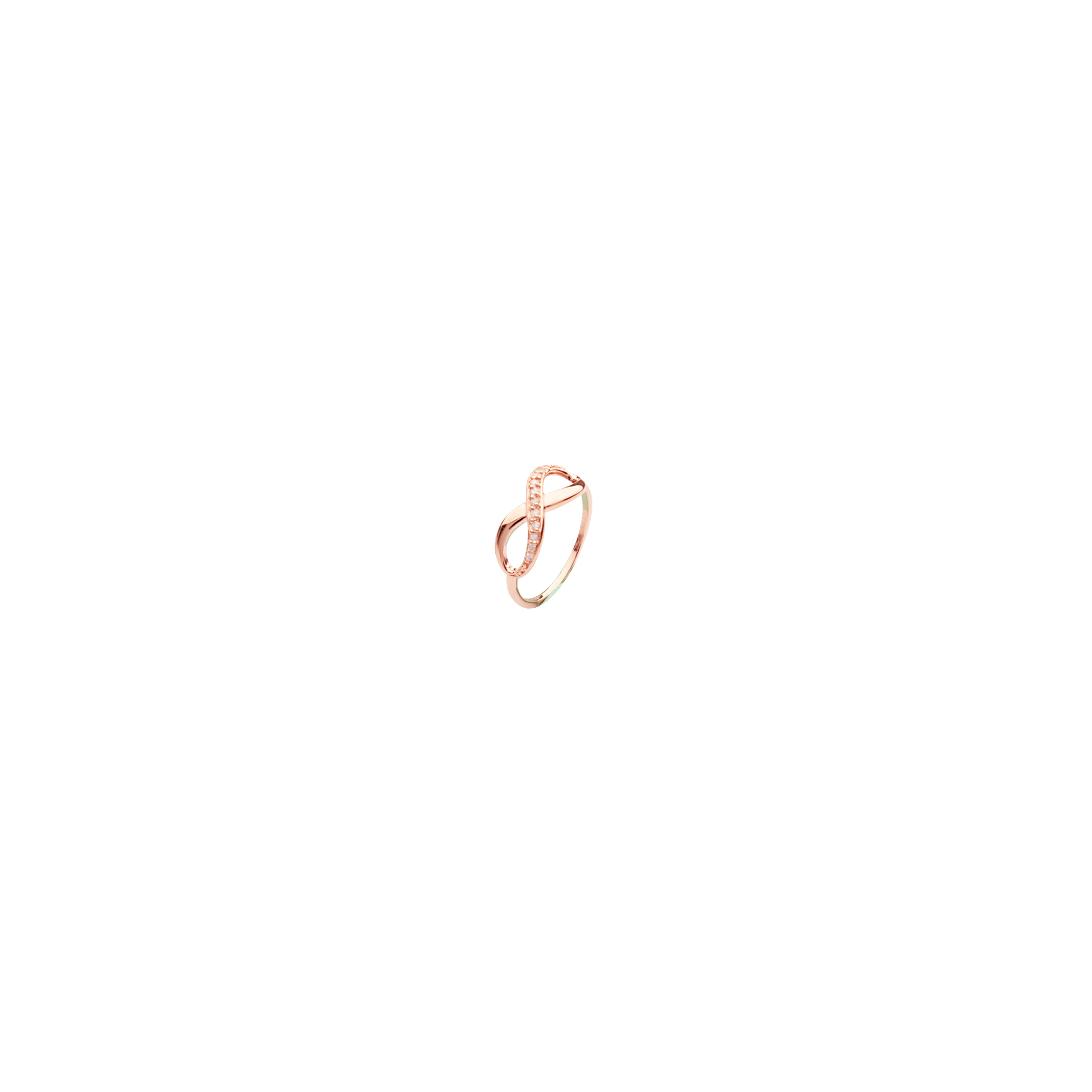 E2W 1/2-Carat Cubuc Zircon Infinity Ring