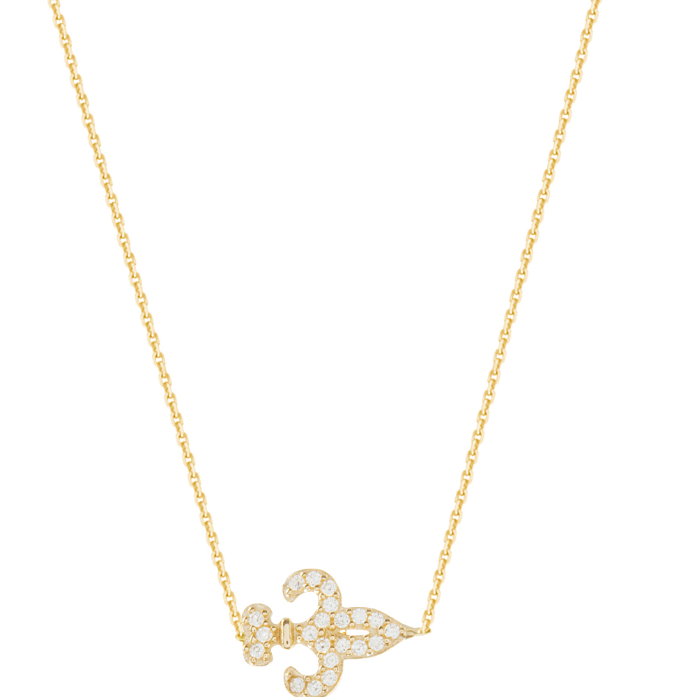 Fleuir Necklace, 14Kt Gold Fleuir Necklace 18