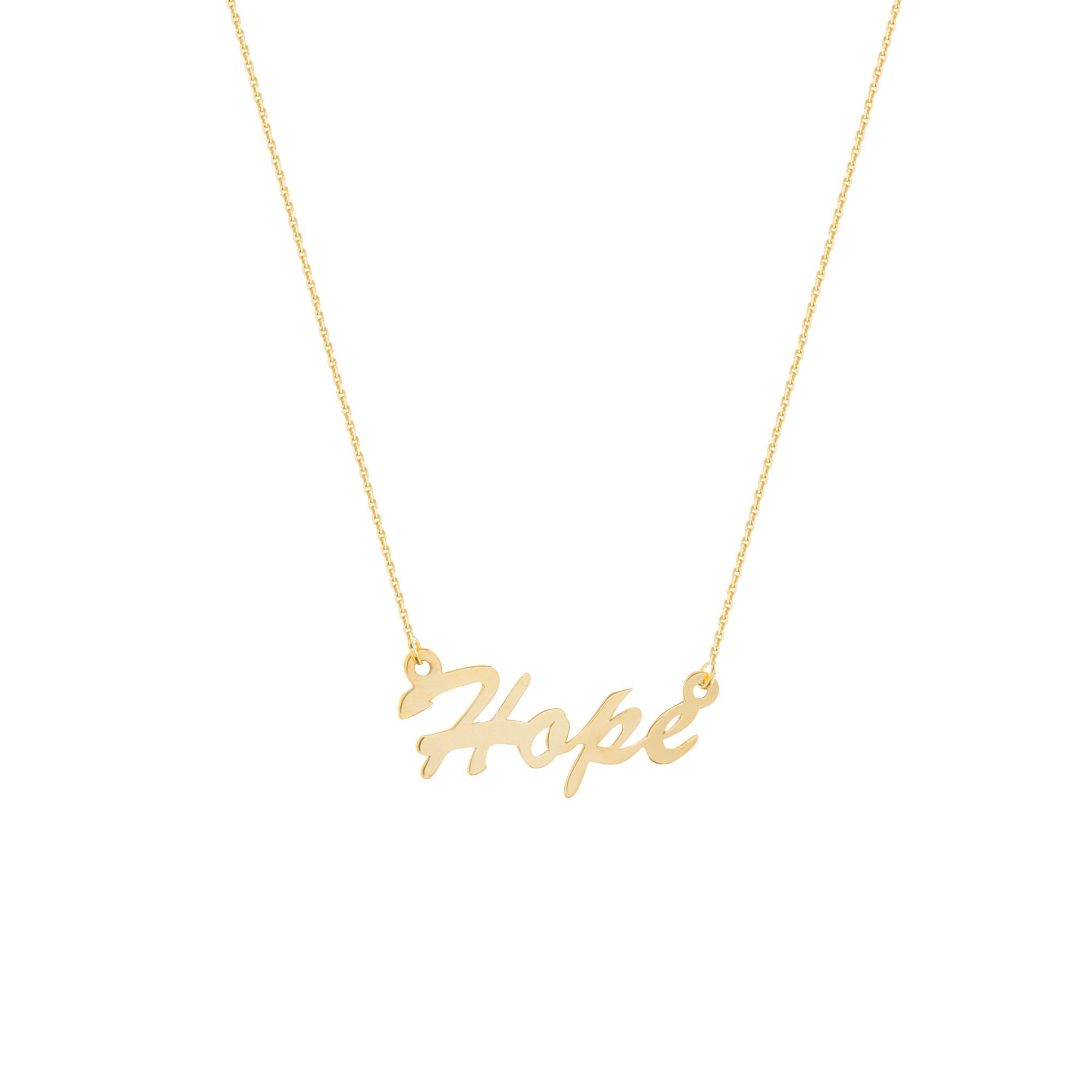 Hope Necklace, 14Kt Gold Hope Necklace 18