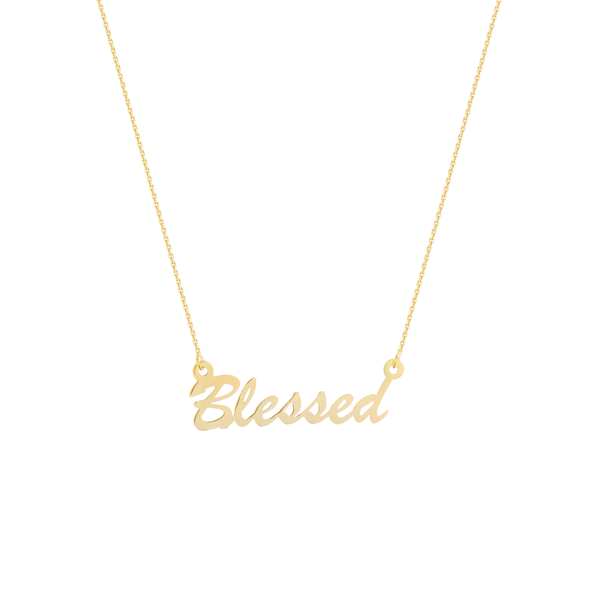 Blessed Necklace, 14Kt Gold Blessed Necklace 18