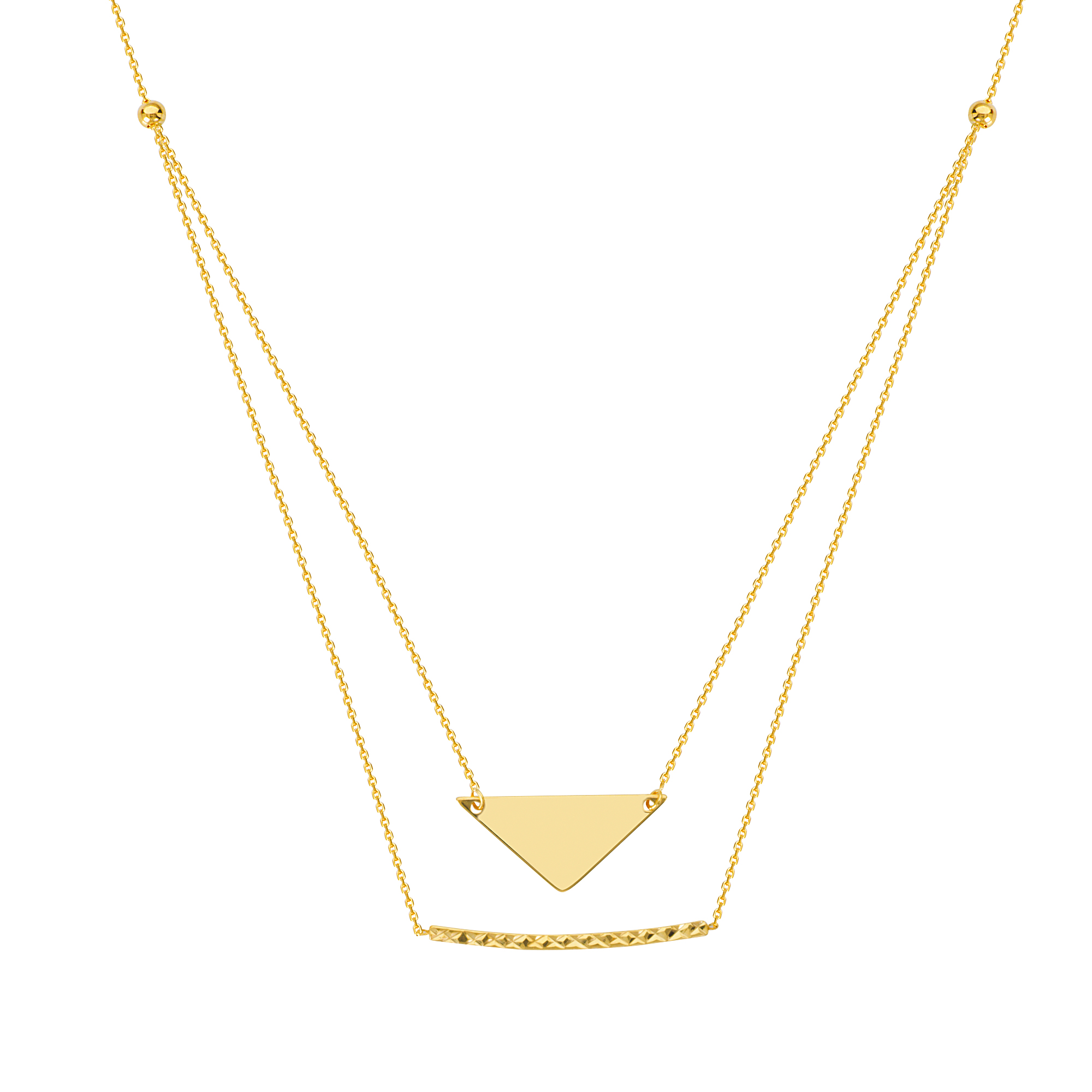 Stability And Balance  Necklace, 14Kt Gold  Stability And Balance Necklace  18