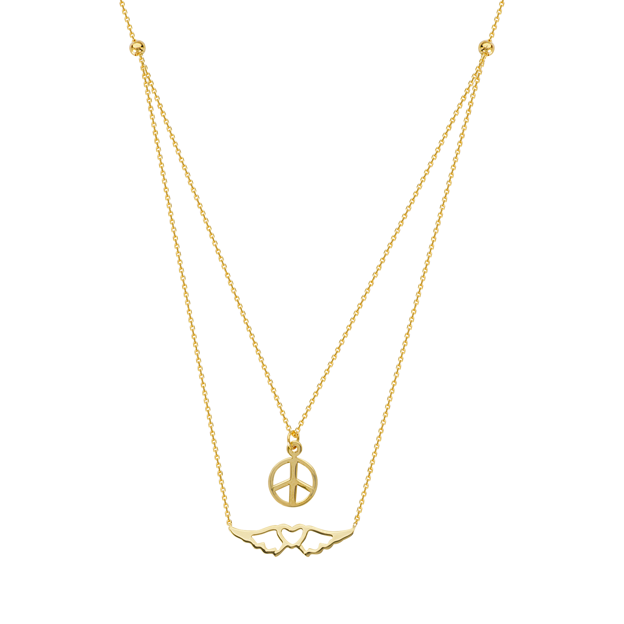 Peaceful Journey  Necklace, 14Kt Gold Peaceful Journey  18