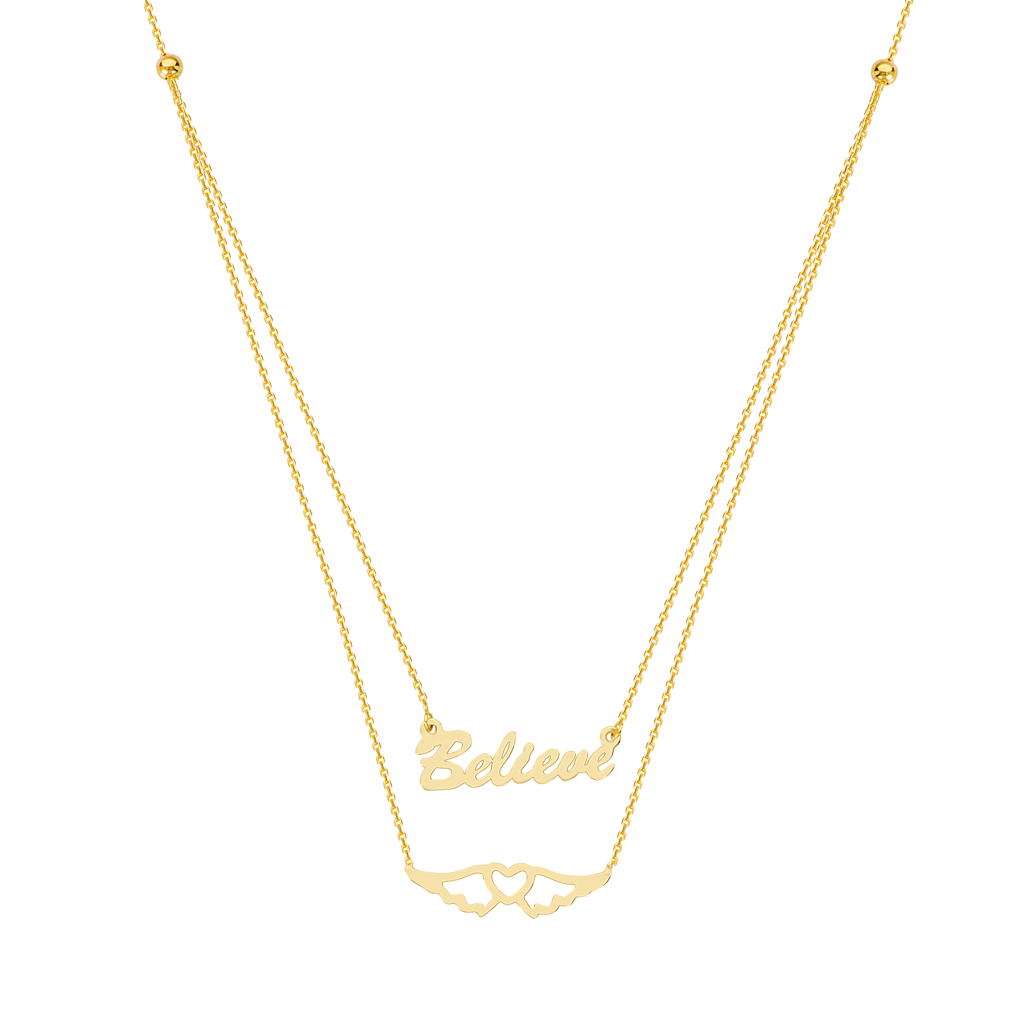 Believe In Your Journey Necklace, 14Kt Gold   18