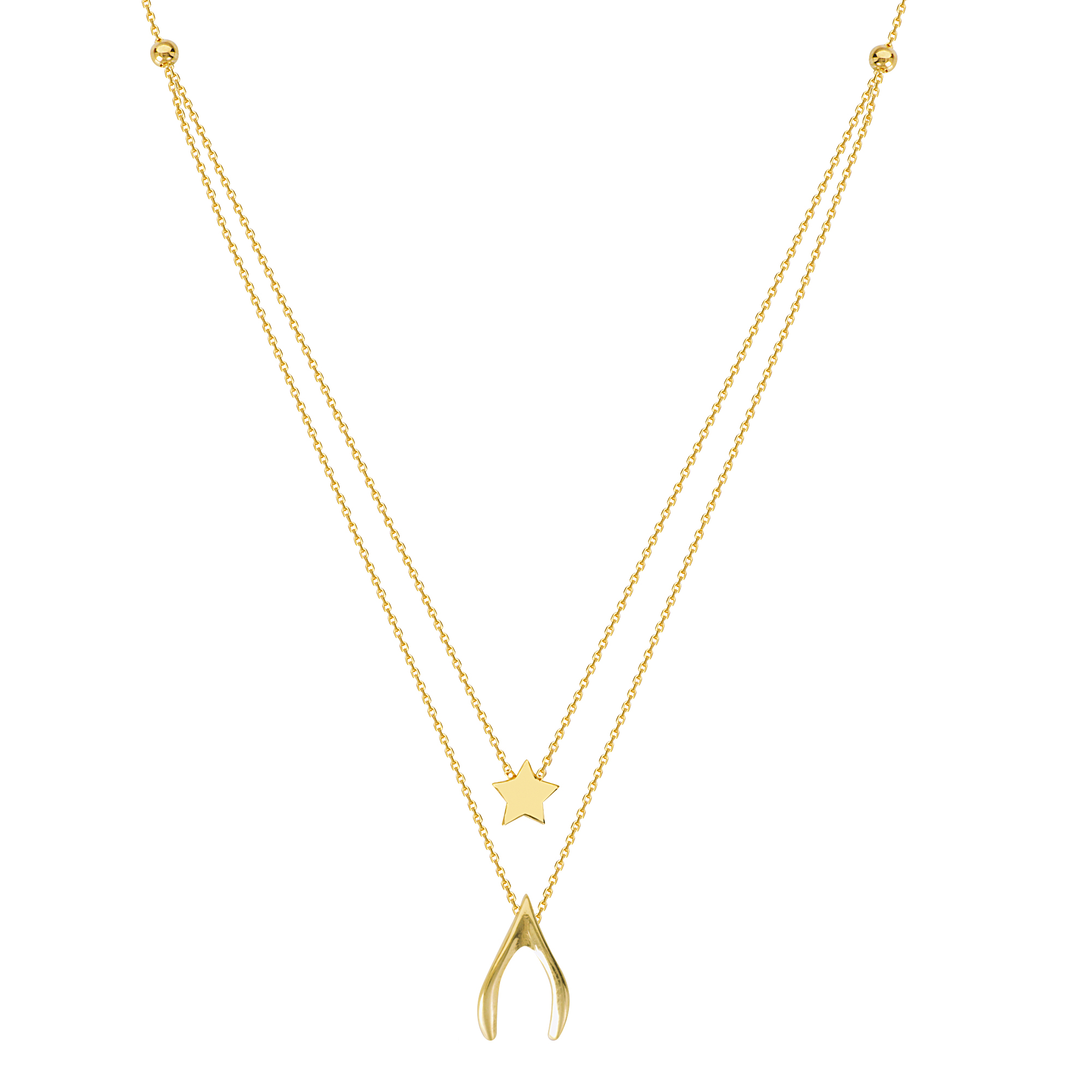 Wish Upon A Star Necklace, 14Kt Gold Wish Upon A Star 18