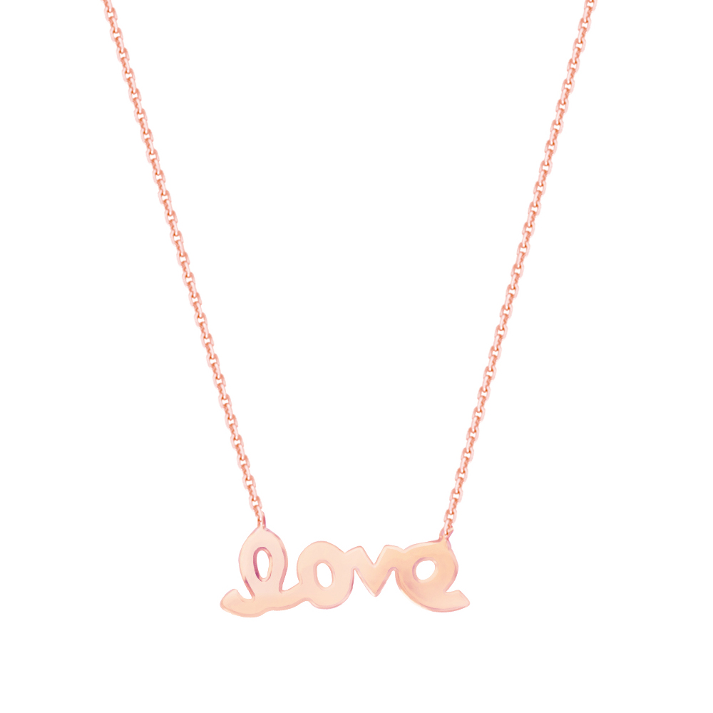 Love Necklace, 14Kt Gold  Necklace 18