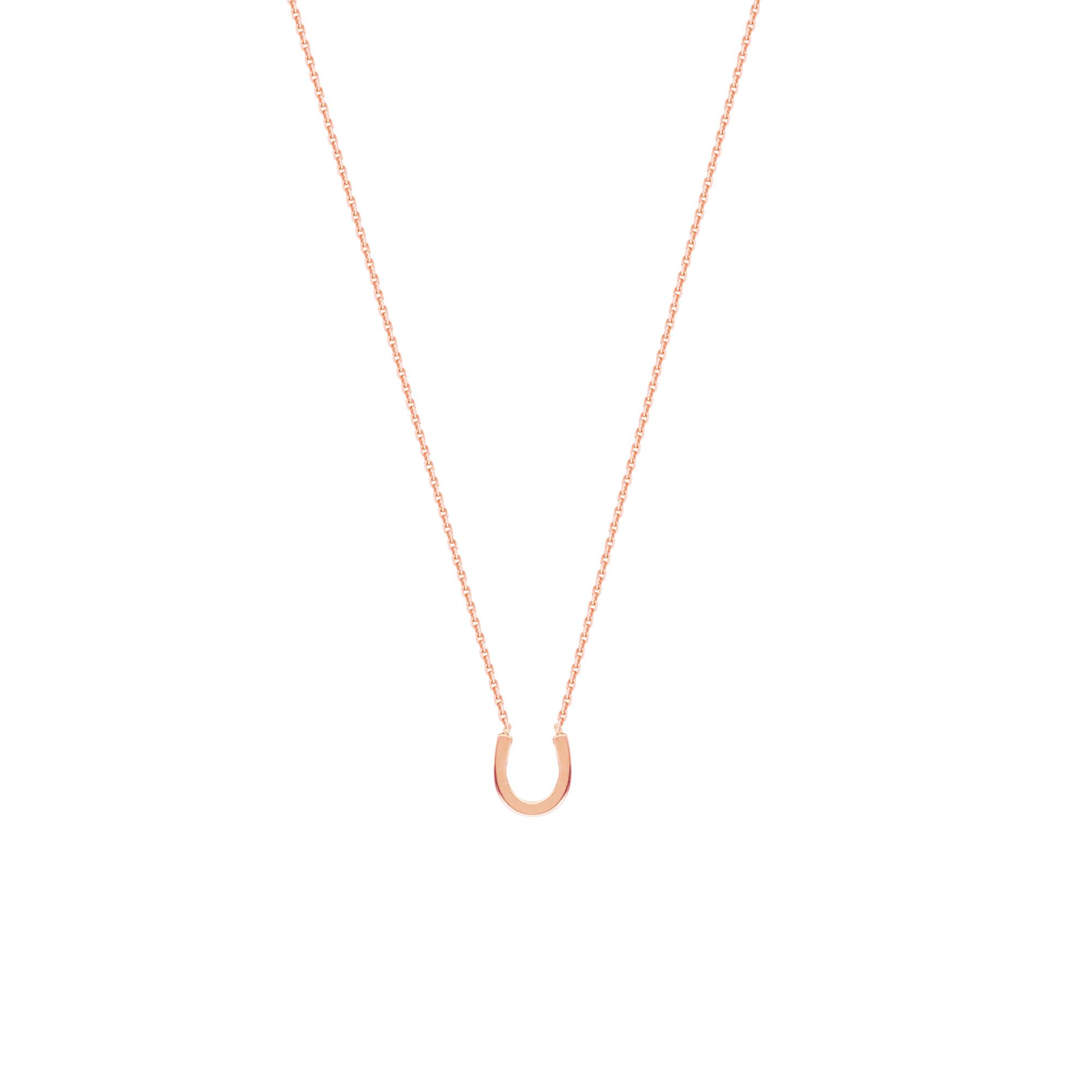 Horseshoe Necklace,14 Kt Gold  Horseshoe Necklace 18