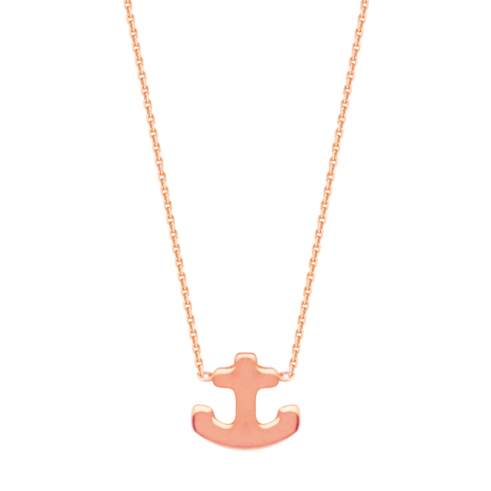Anchor Necklace, 14Kt Gold  Anchor Necklace 18