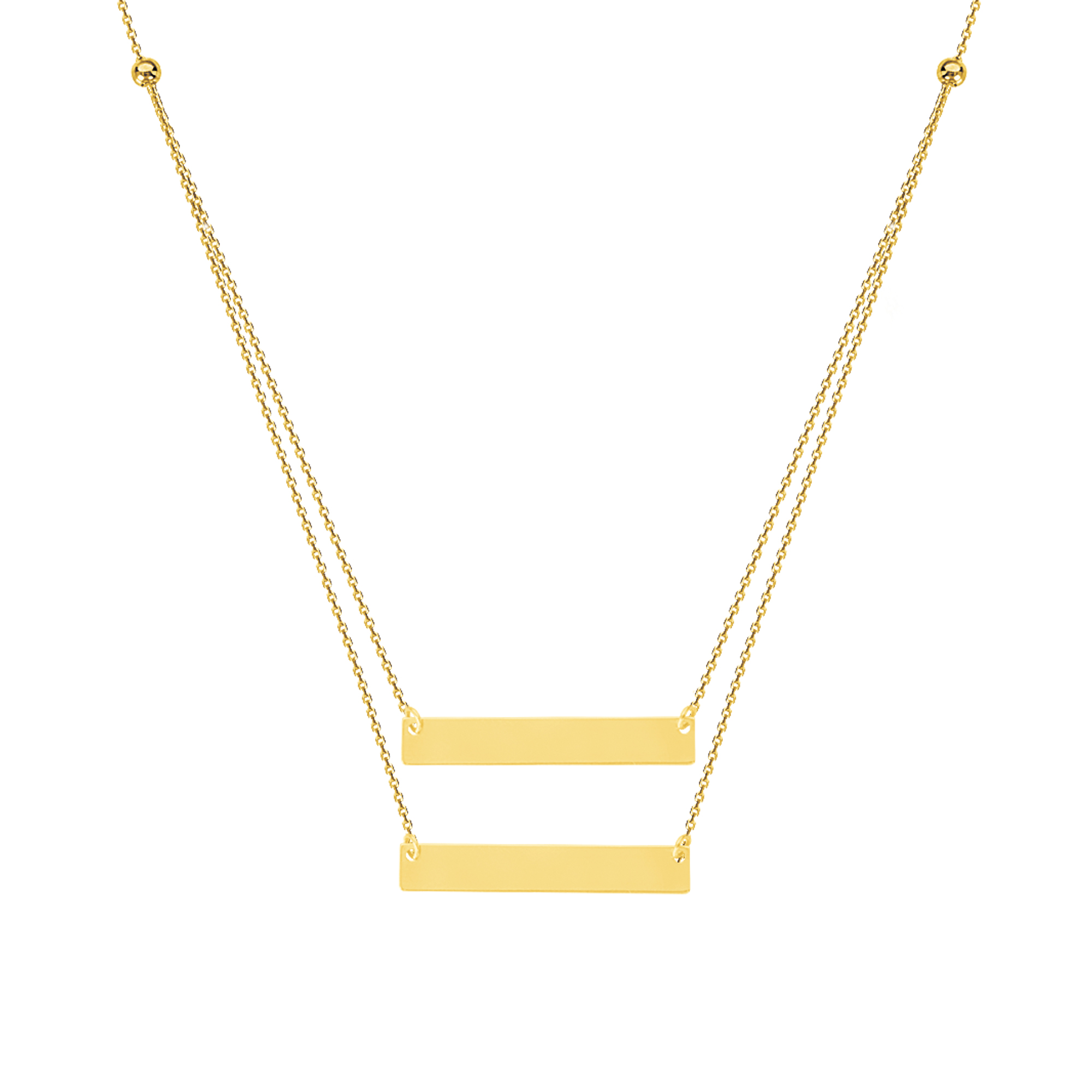 Name Plate Necklace, 14Kt Gold Name Plate  18