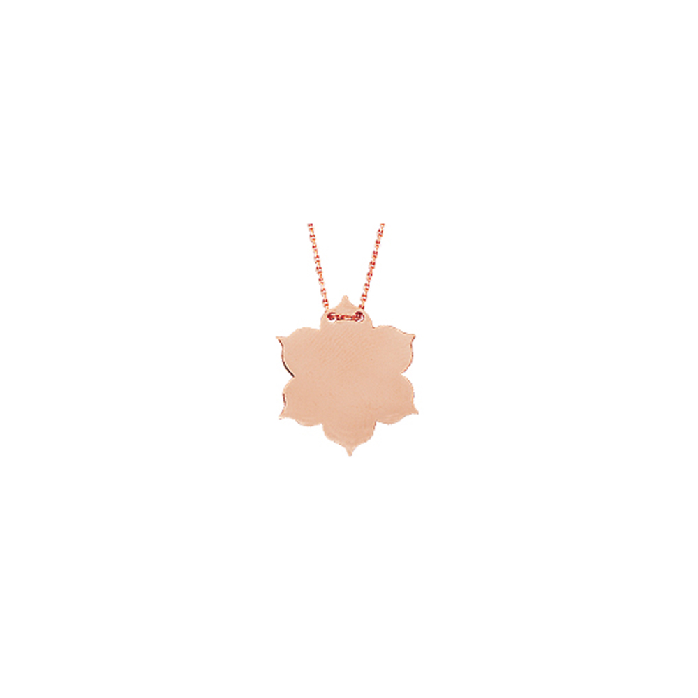 Flower Necklace, 14Kt Gold Flower Necklace 18