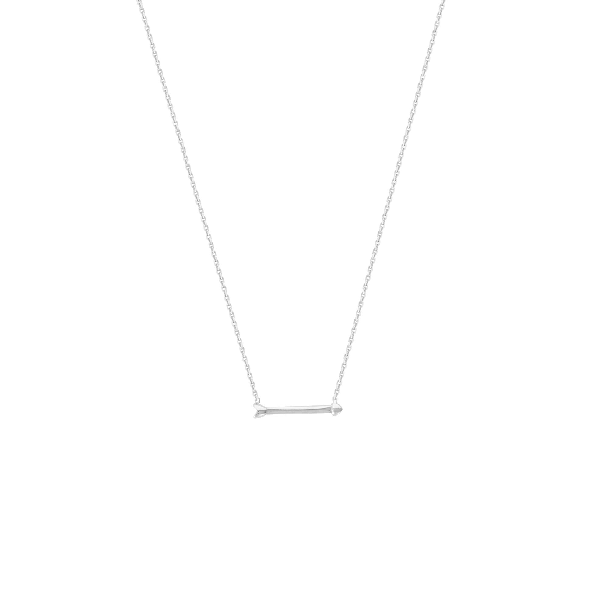 Arrow Necklace, 14 Kt Gold  Arrow Necklace 18