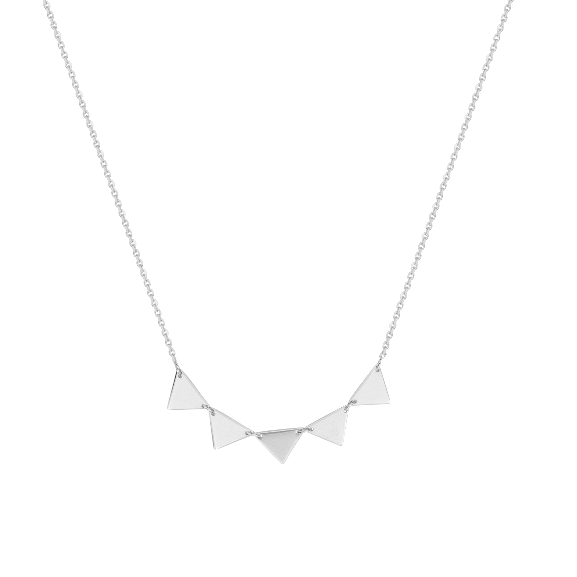 Triangle  Necklace, 14Kt Gold   Triangle Necklace  18