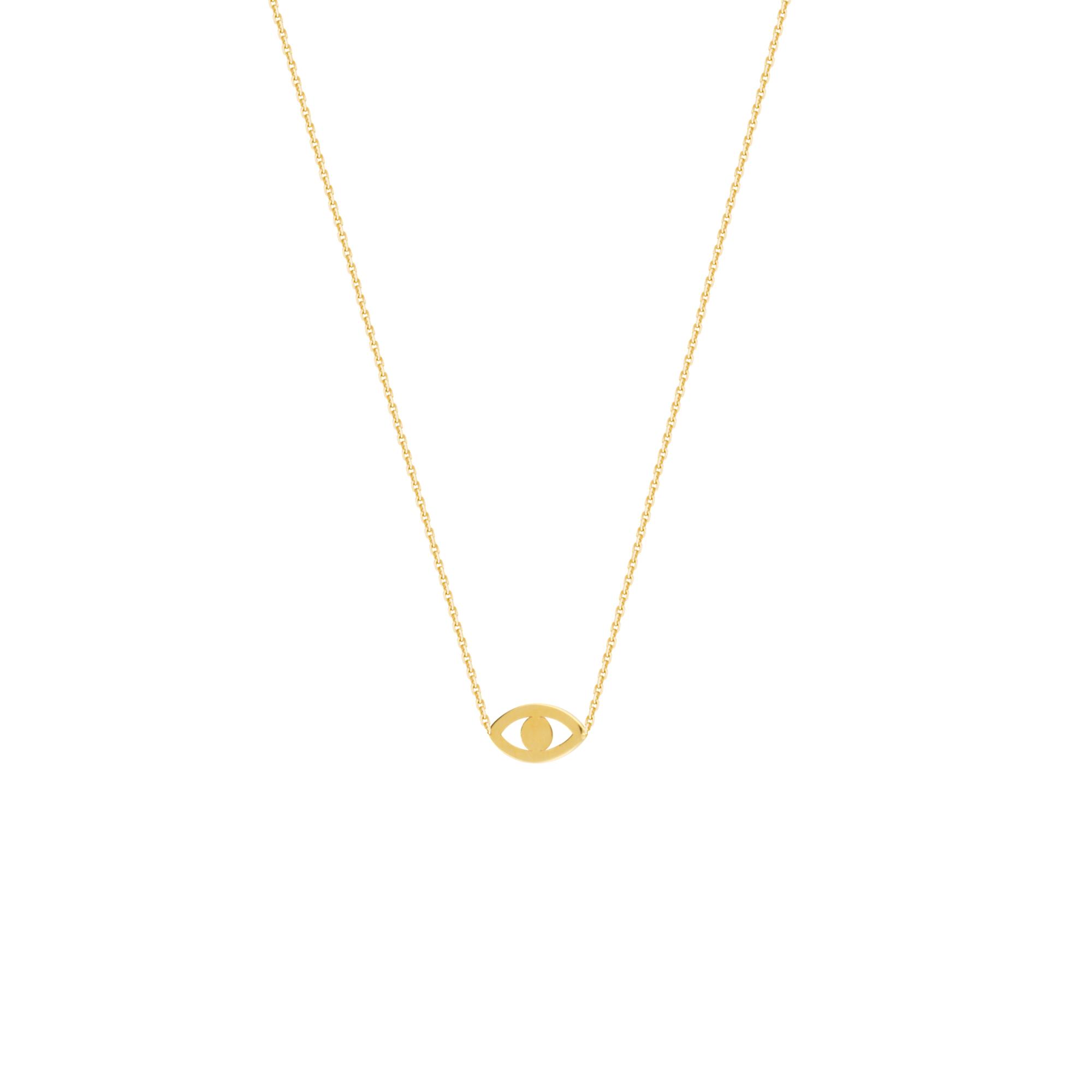 Evil Eye Necklace, 14Kt Gold Evil Eye Necklace 18