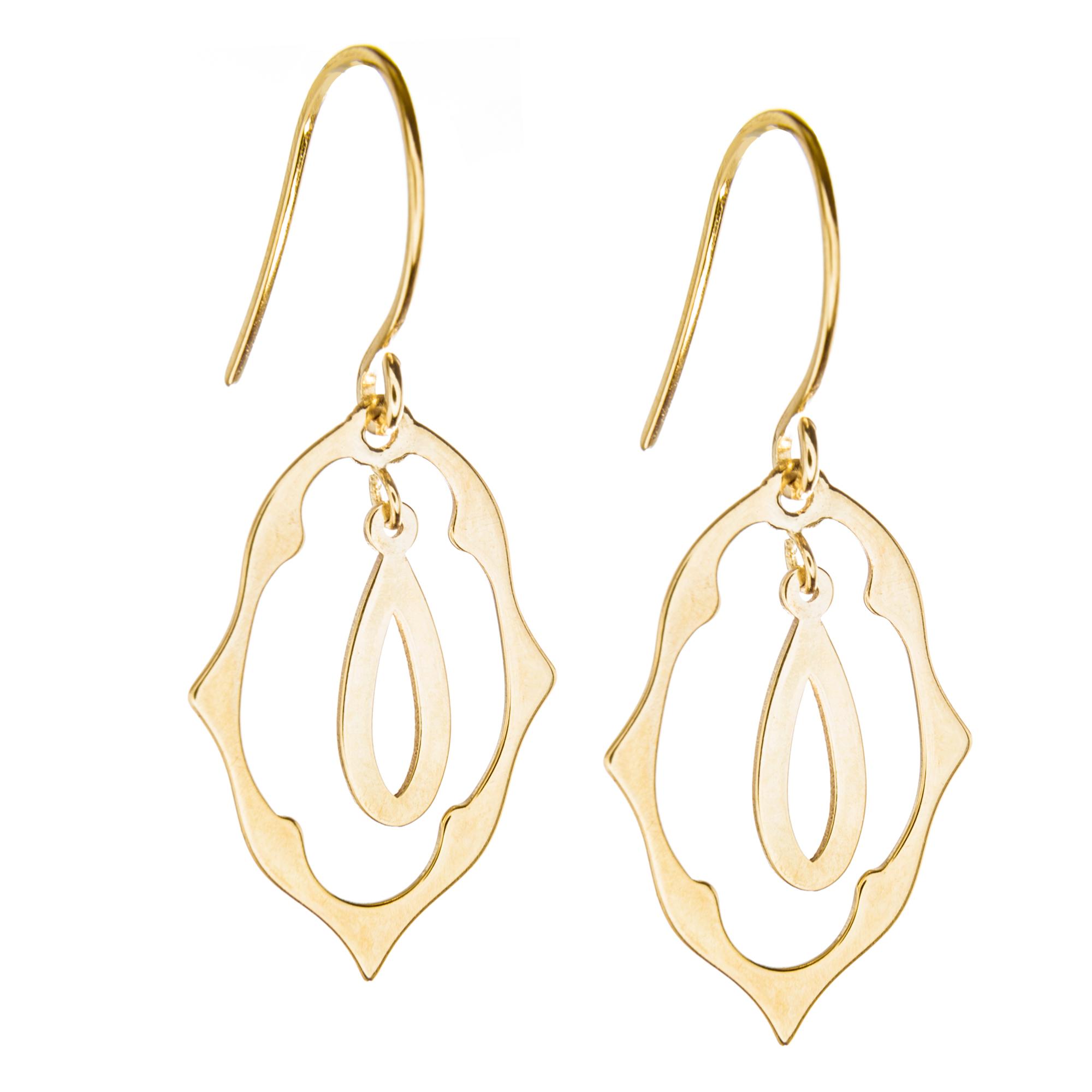 14Kt Gold Earring Stamped Earring