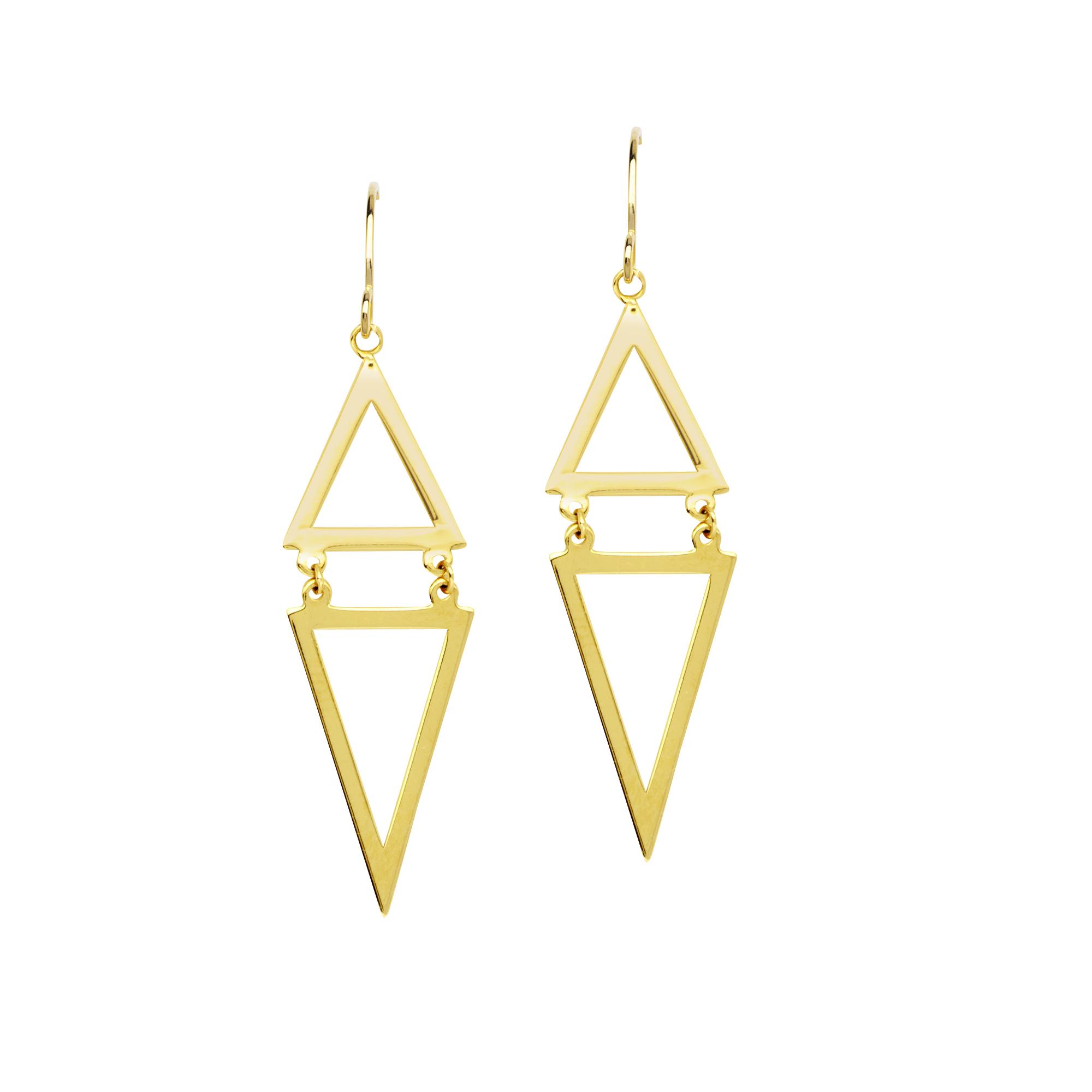 Earrings,14Kt Gold Fish Hook Earrings