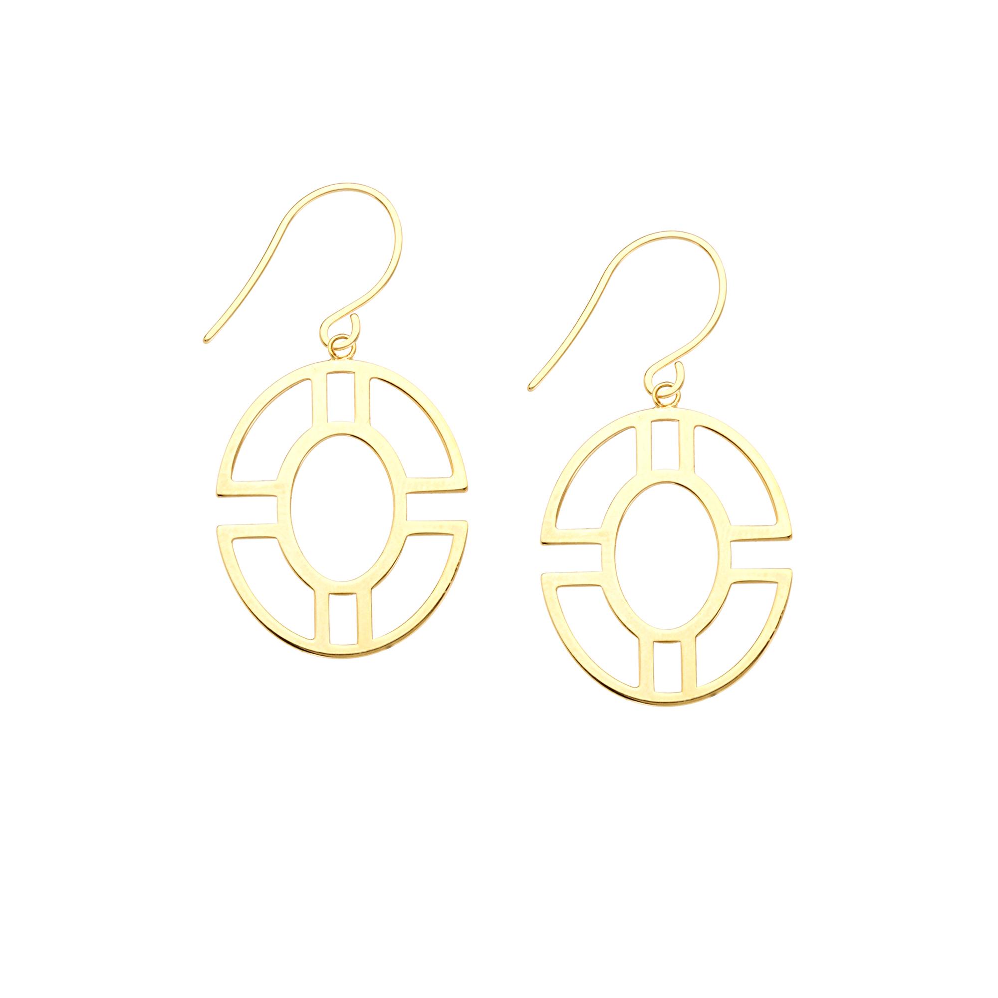 Dangle Earrings, 14Kt Gold Earring