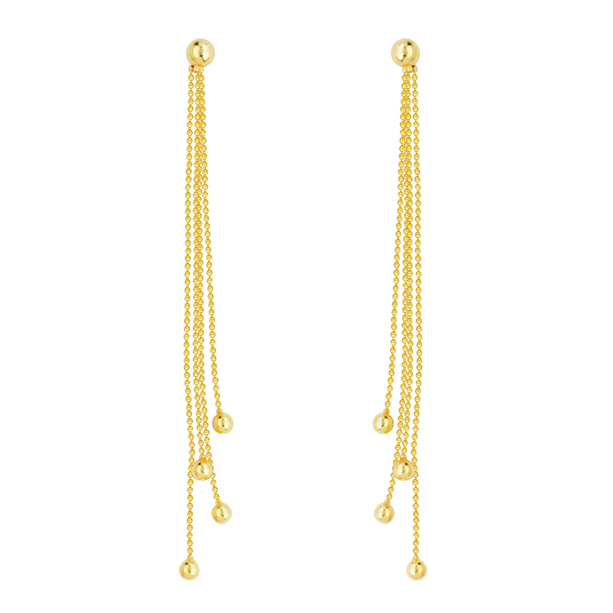 Chain Earring, 14Kt Gold Earring