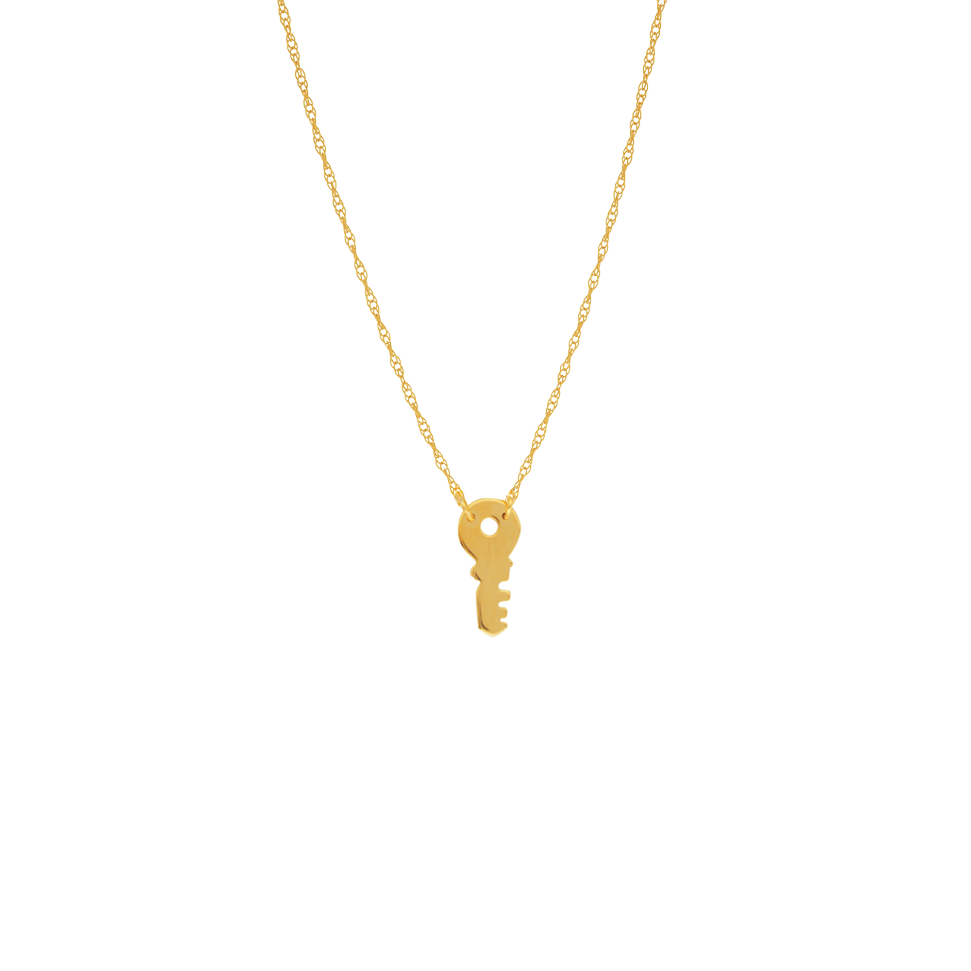 Key Necklace,14Kt Gold Key Necklace 18