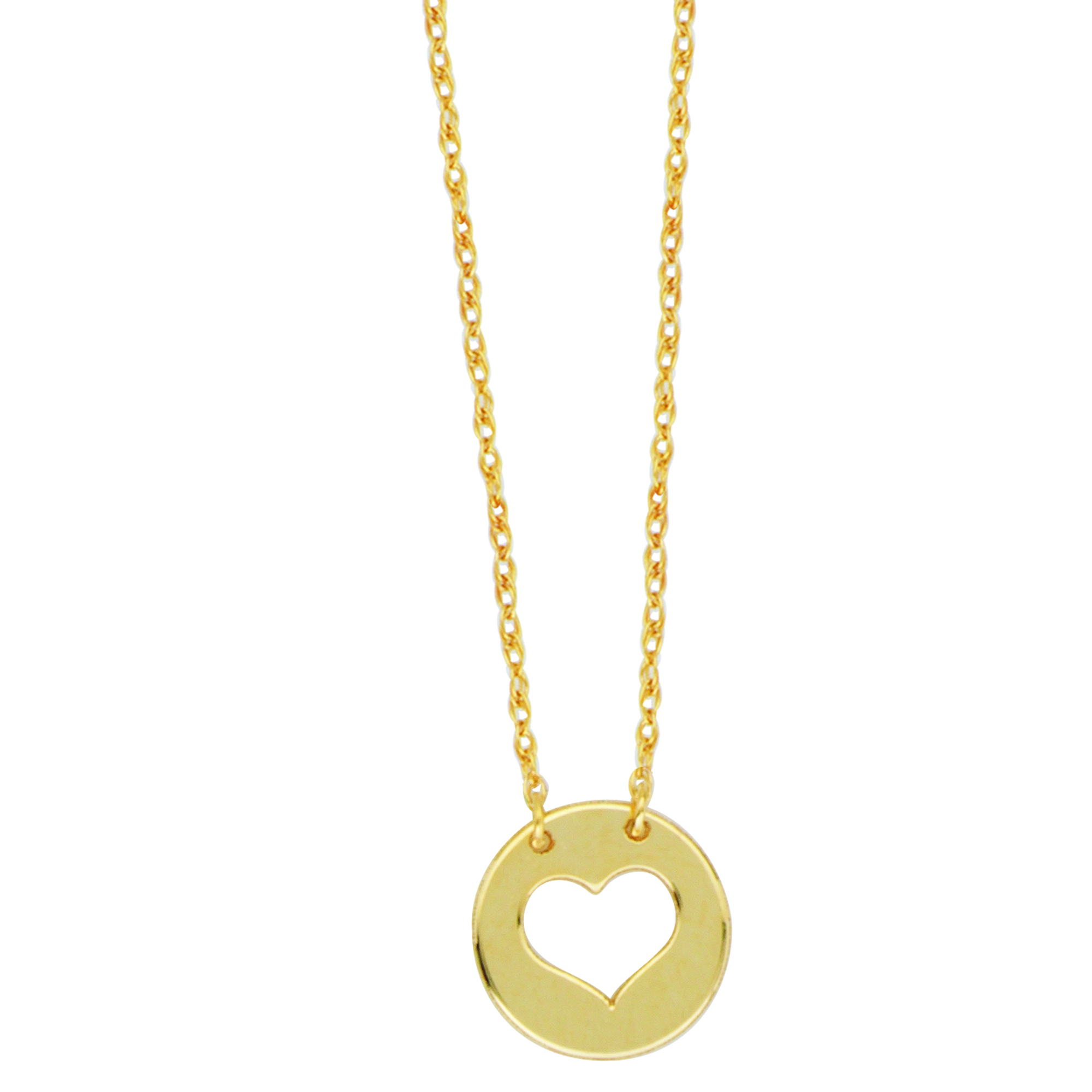 Heart Necklace,14Kt Gold Heart Necklace 18