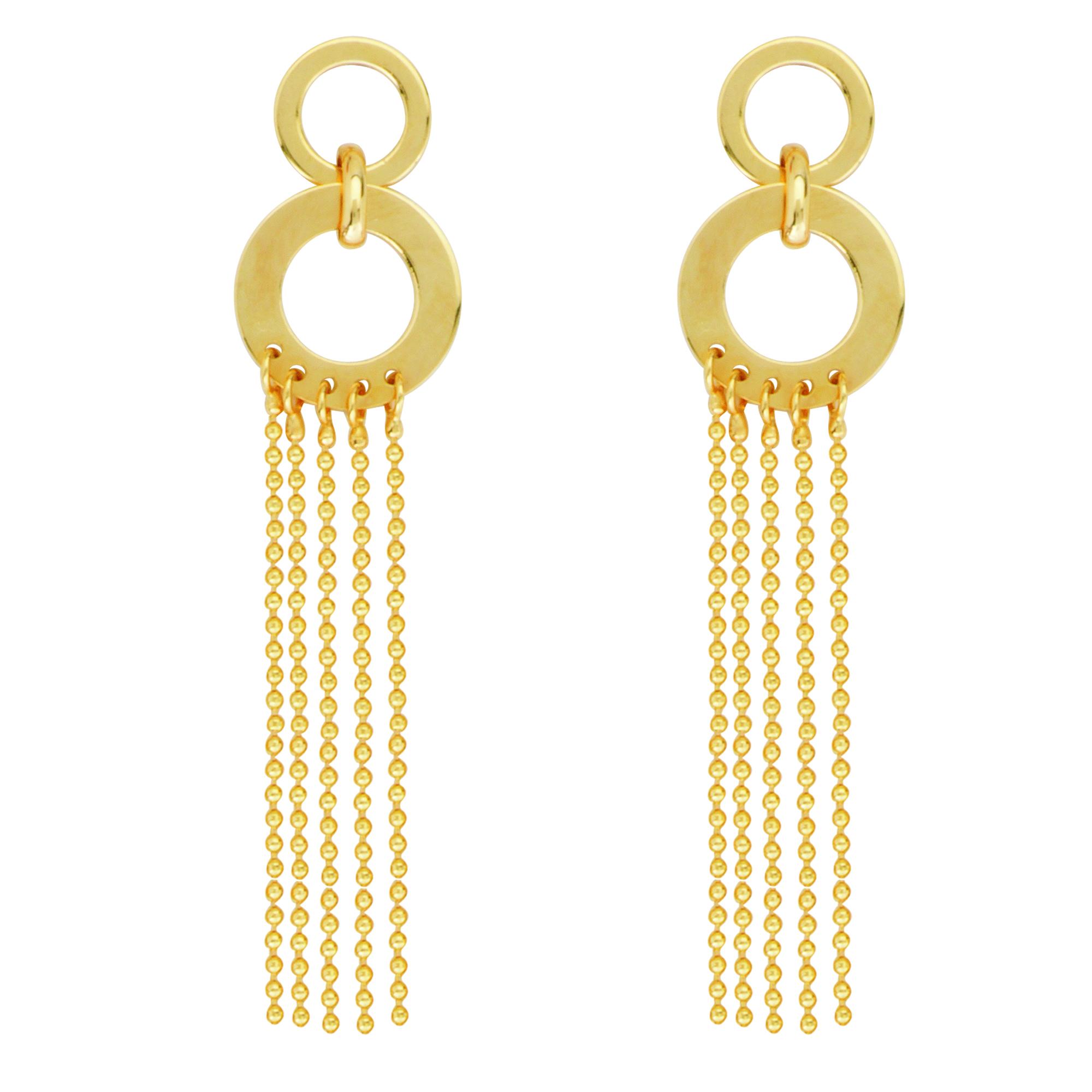 Drape Earrings, 14Kt Gold Earring