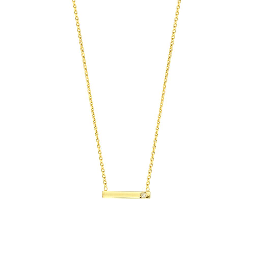 Staples  Necklace, 14Kt Gold & Diamond   Staples  18