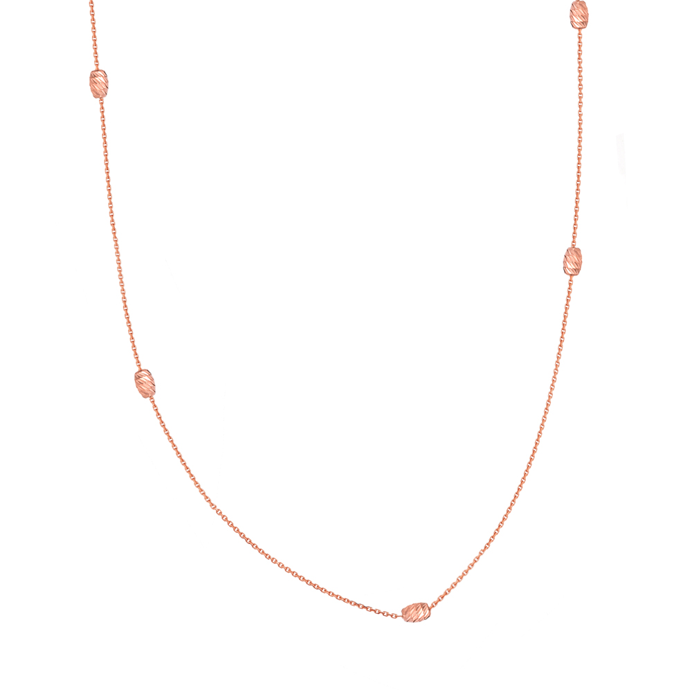 Moon Necklace, 14Kt Gold Moon 18