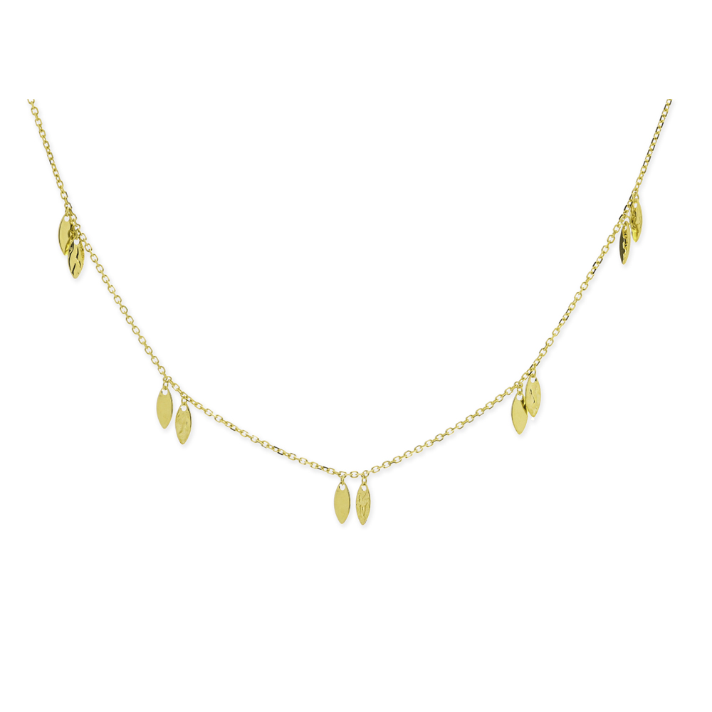 Lariat Necklace, 14Kt Gold Lariate Necklace 18