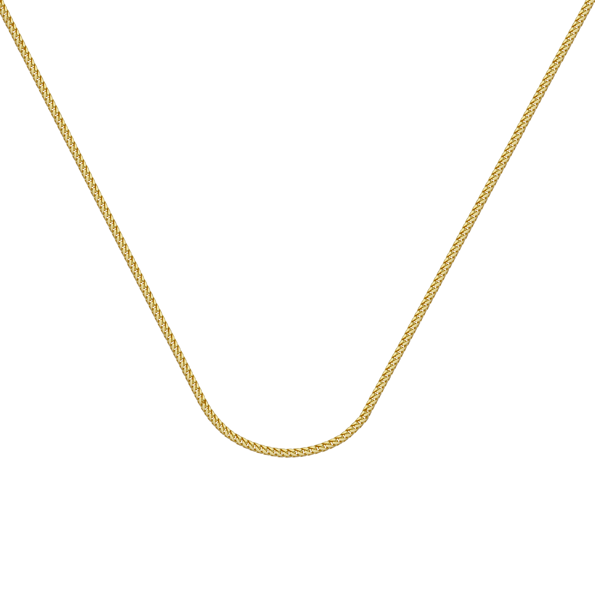 Franco Chain , 14Kt Gold  Franco Chain With Lobster Lock / 24