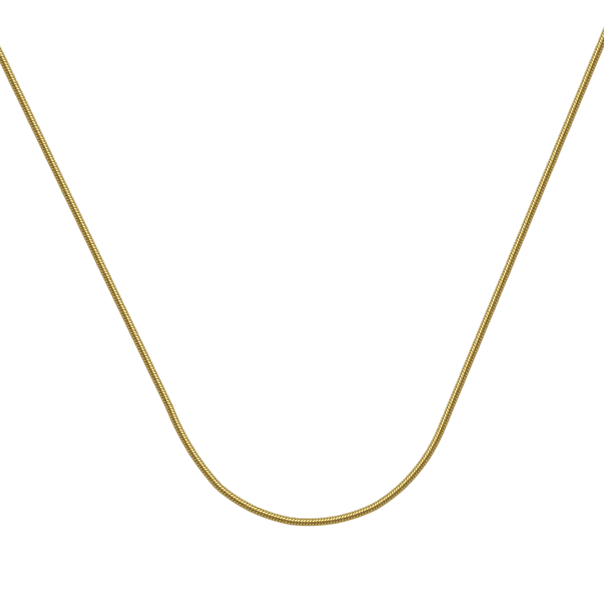Snake Chain , 14Kt Gold  Snake Chain With Lobster Lock / 20