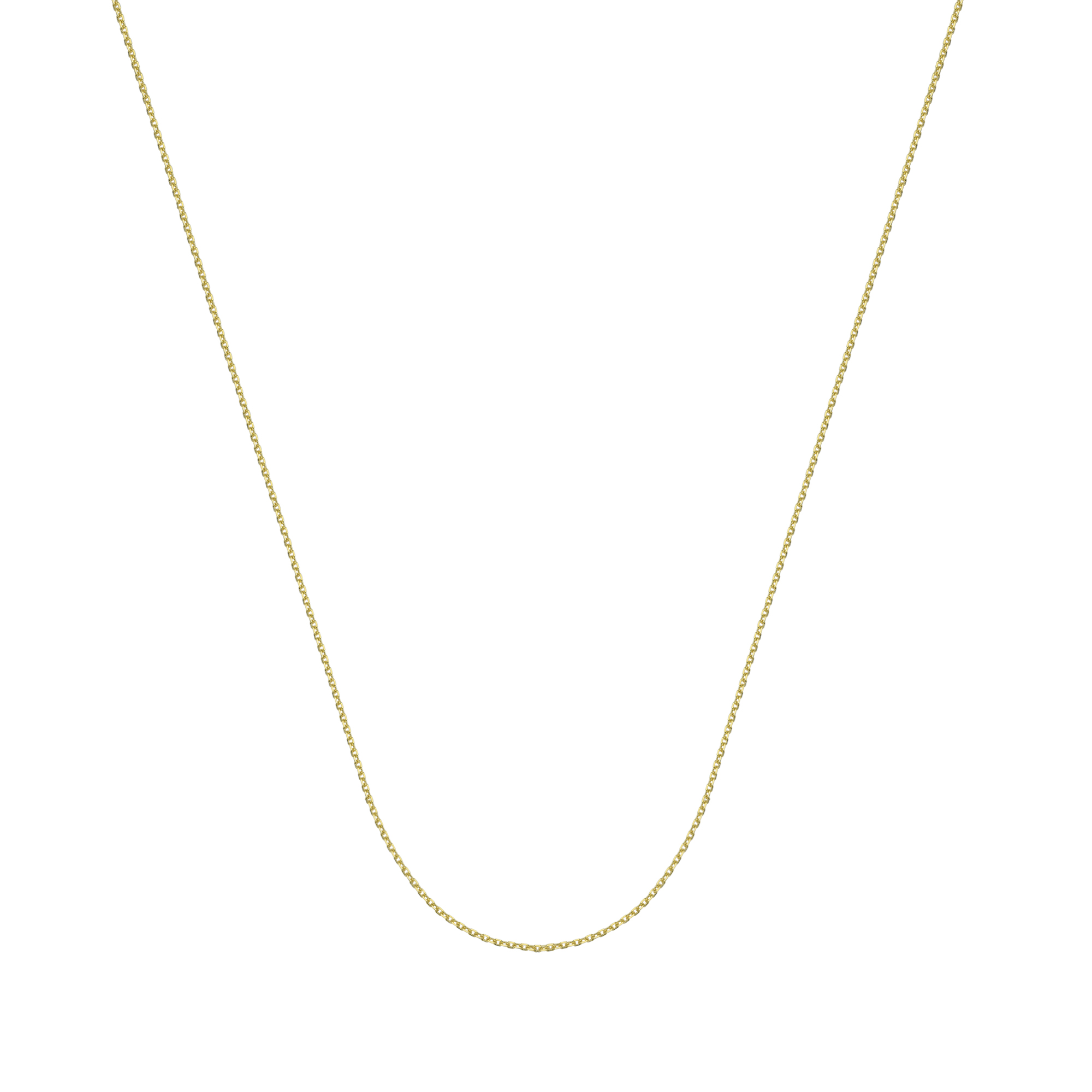 14Kt Gold Diamond Cut Cable Chain With Lobster Lock 20 Inches Long Cable Chain