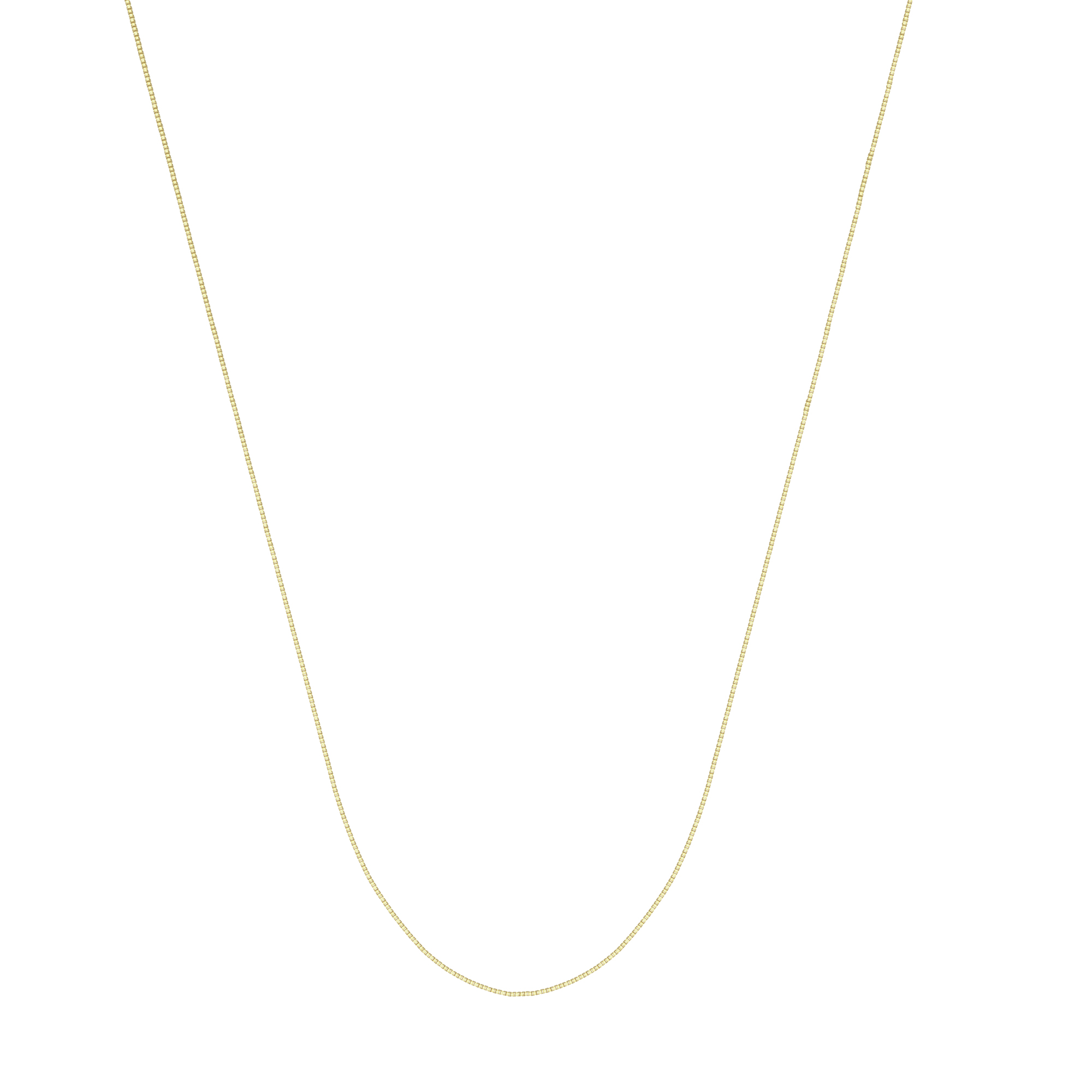 Box Chain, 14Kt Gold Box Chain With Lobster Lock / 20