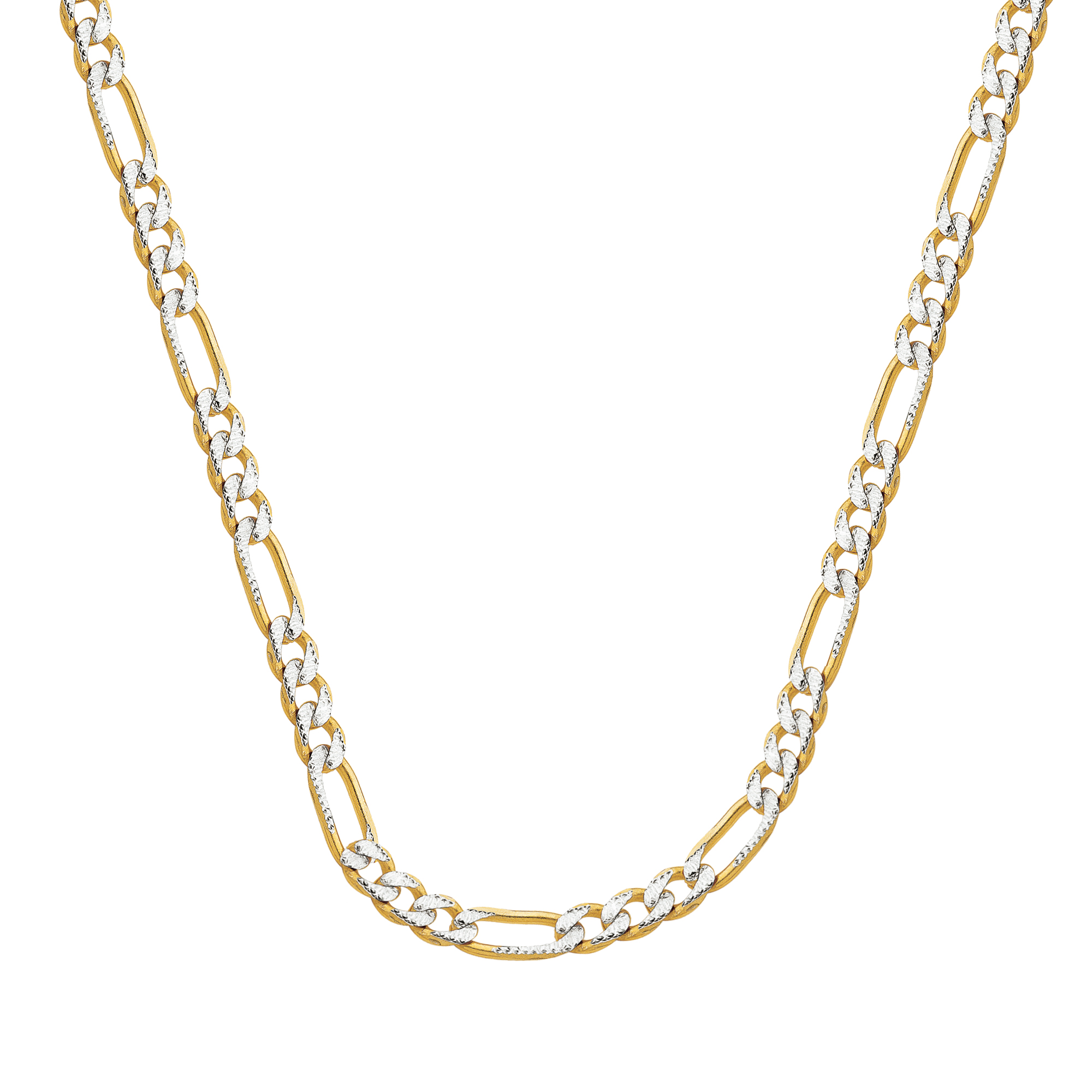 Figaro Chain , 14Kt Gold  Figaro Chain With Lobster Lock / 24