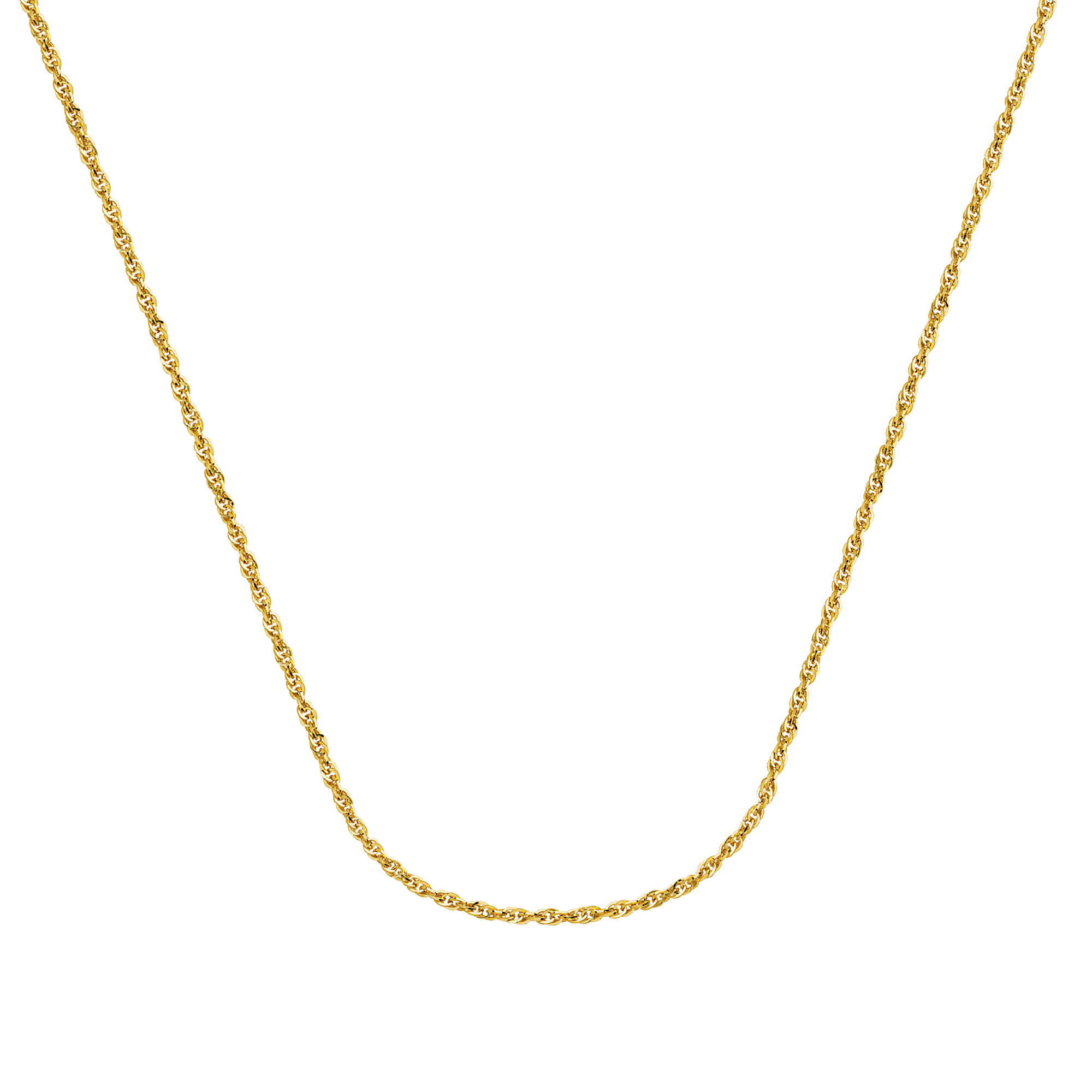 Rope Chain , 14Kt Gold Hollow Rope Chain With Lobster Lock / 20