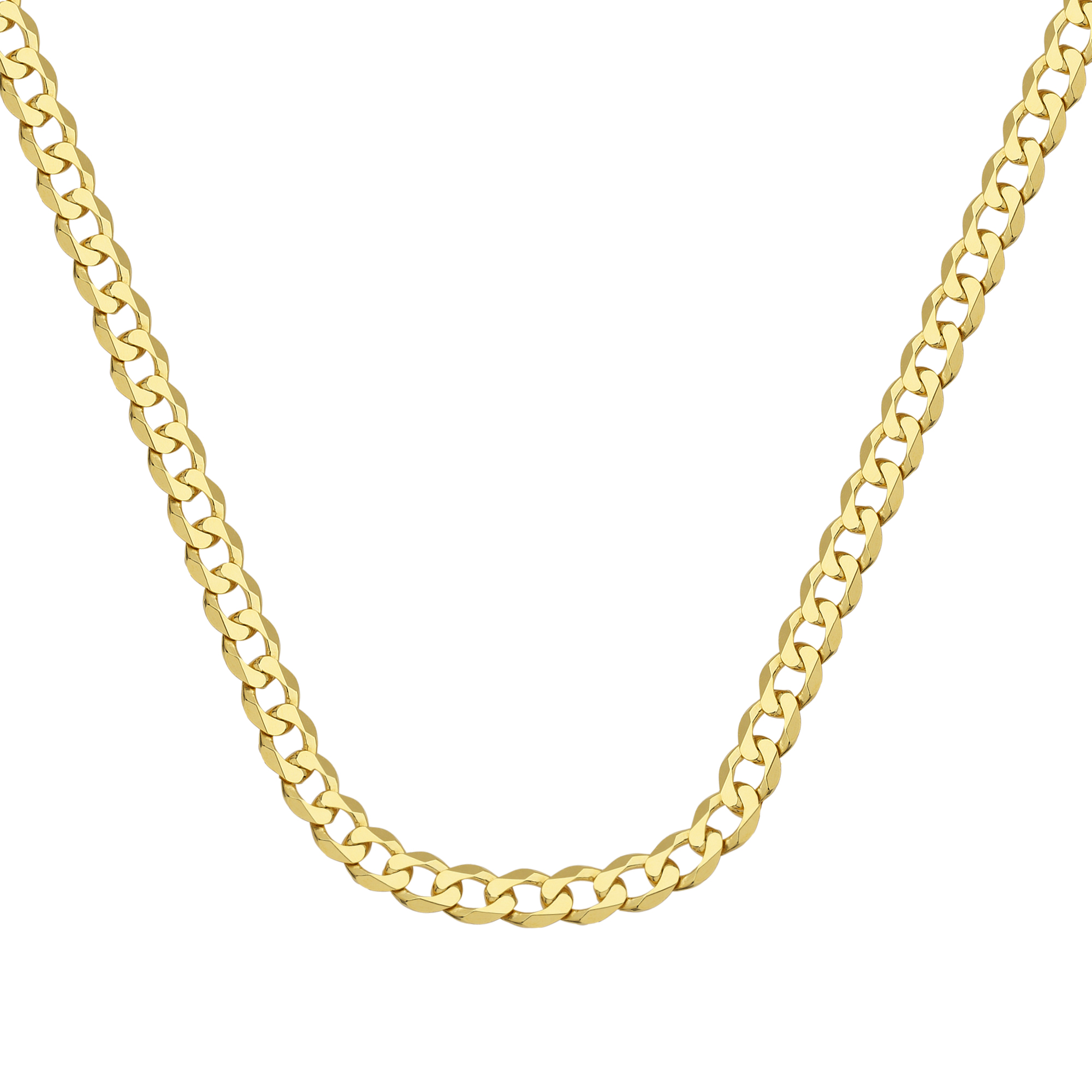 Curb Chain , 14Kt Gold  Curb Chain With Lobster Lock / 20