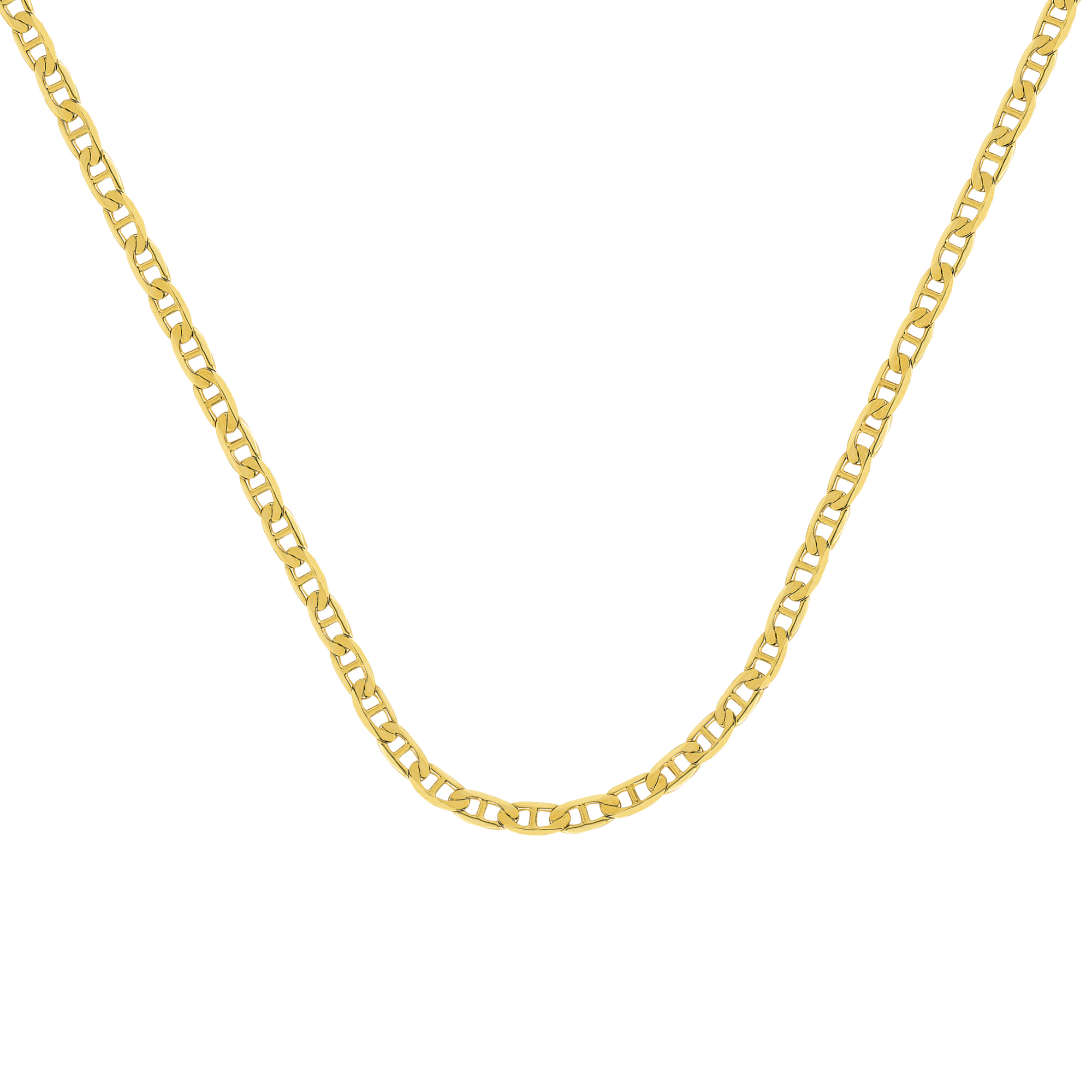 Mariner Chain , 14Kt Gold  Mariner Chain With Lobster Lock / 30