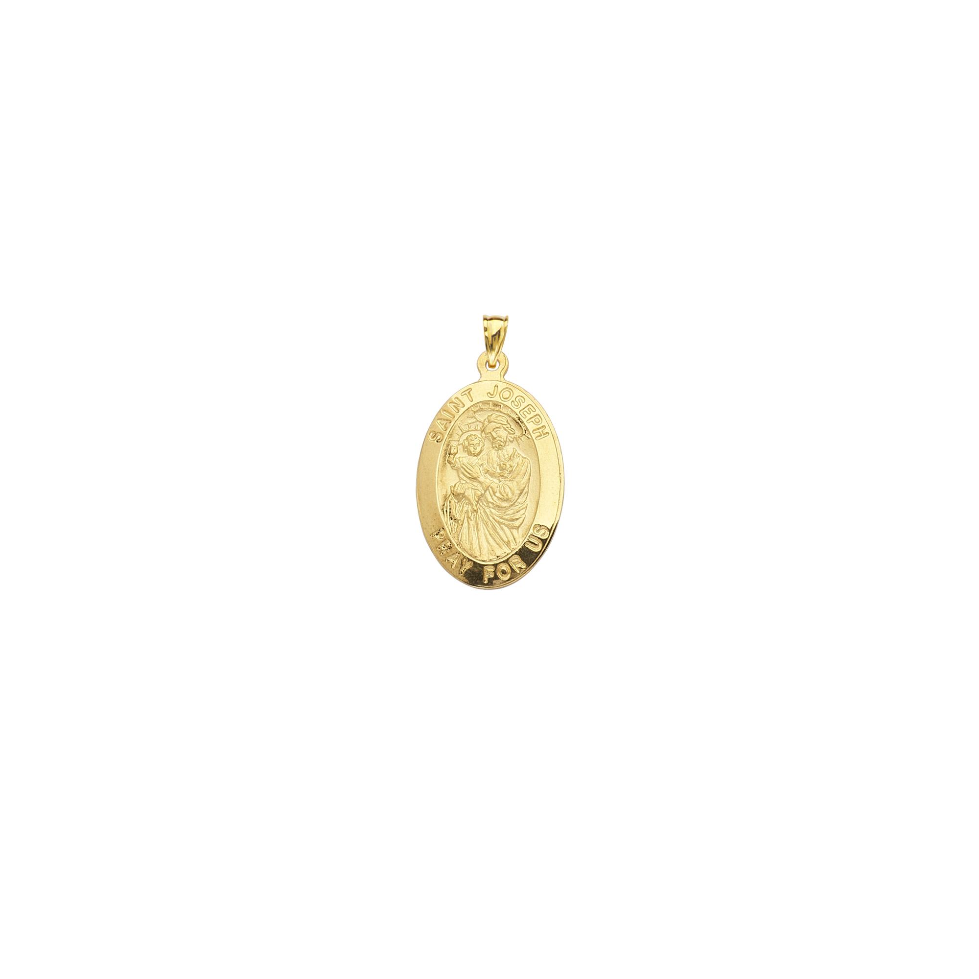 Saint Joseph, 14Kt Gold Saint Joseph Medal