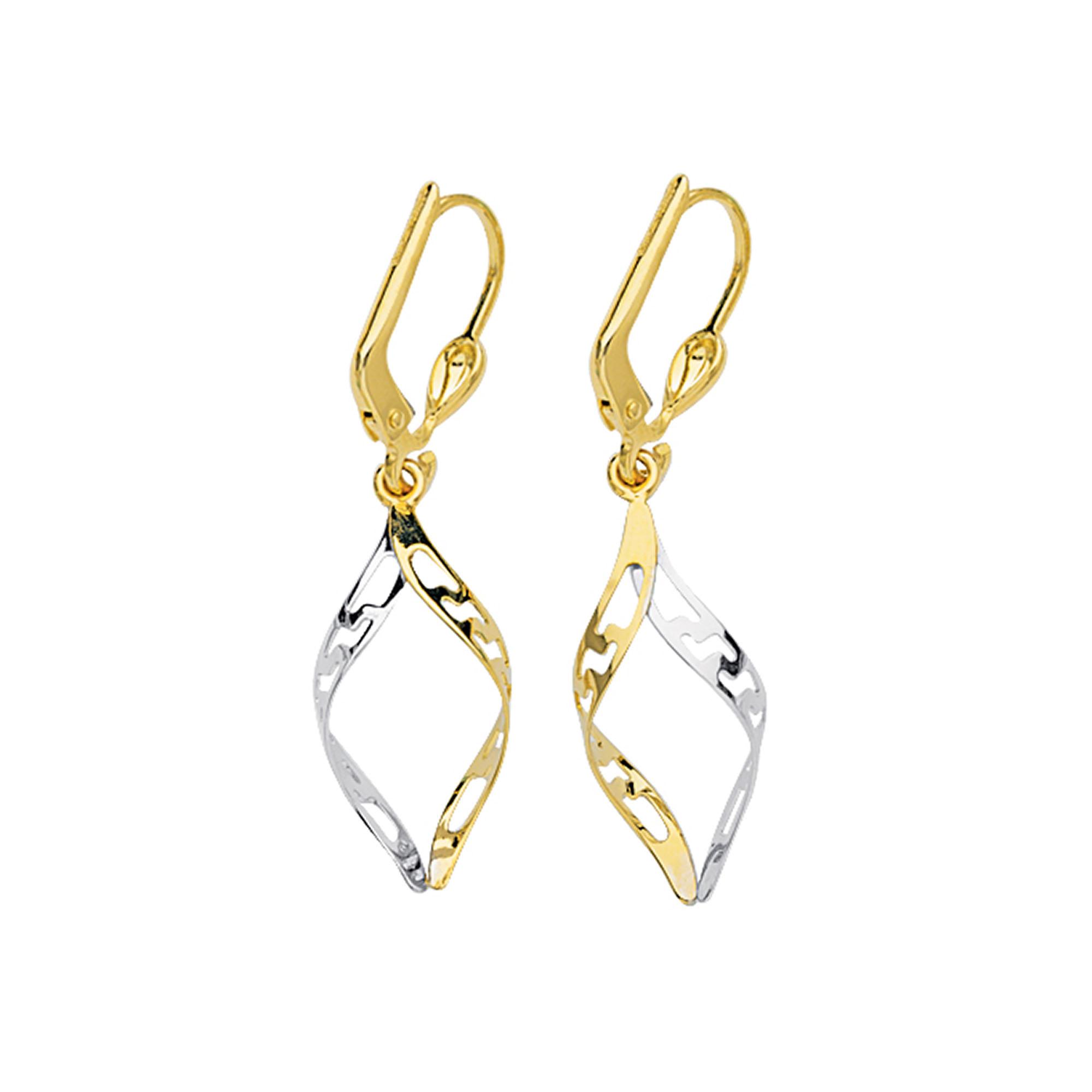 Greek Key Earring, 14Kt Gold Earring