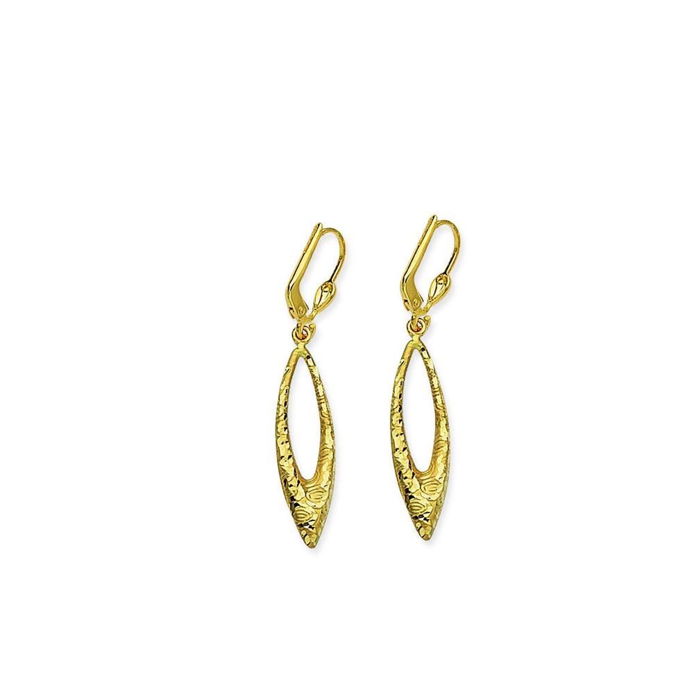 Leverback Earring, 14Kt Gold Earring
