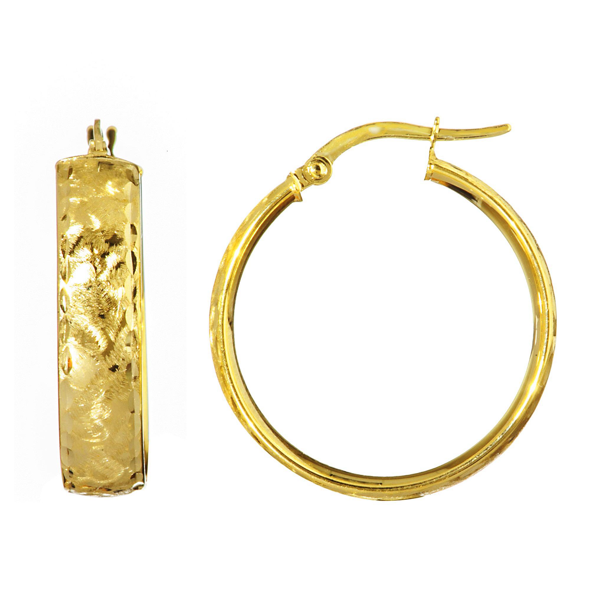 Hoop Earrings 14kt Gold Hoop Earring Diamond Jewelry Ny