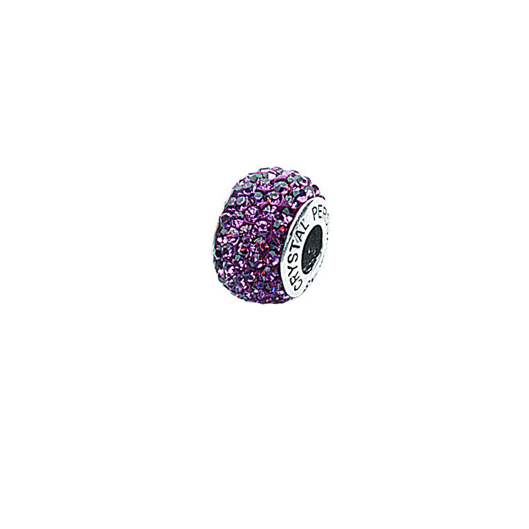 Silver Pendant, June Birthstone Crystal Bead