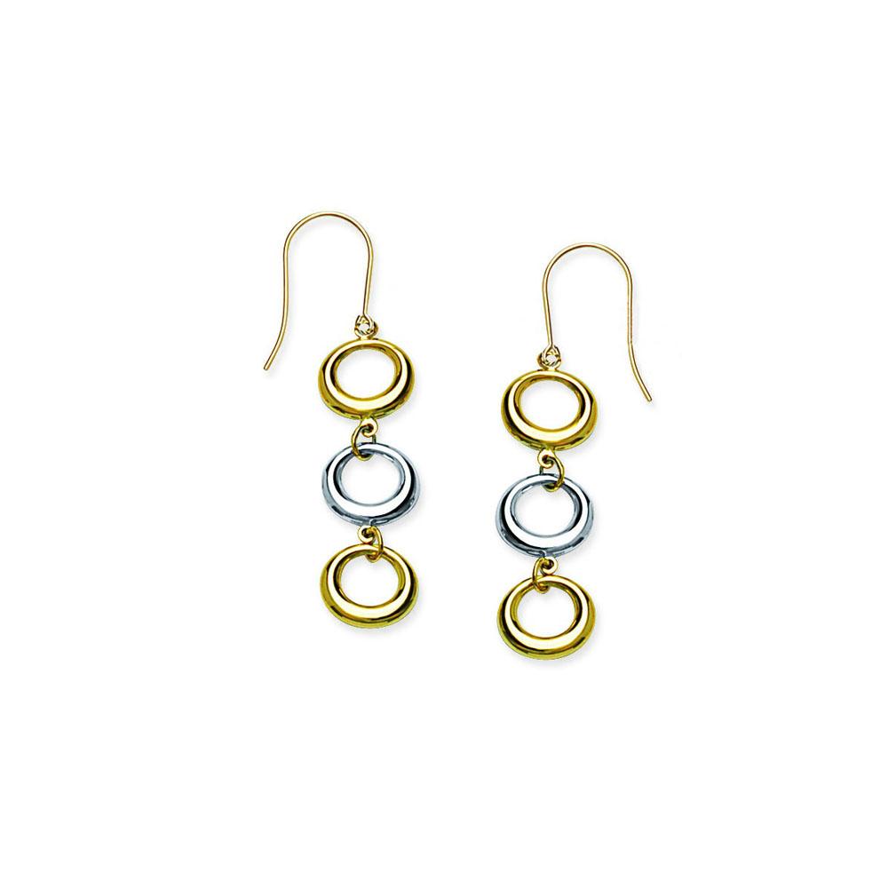 Circle  Earring, 14Kt Gold Earring