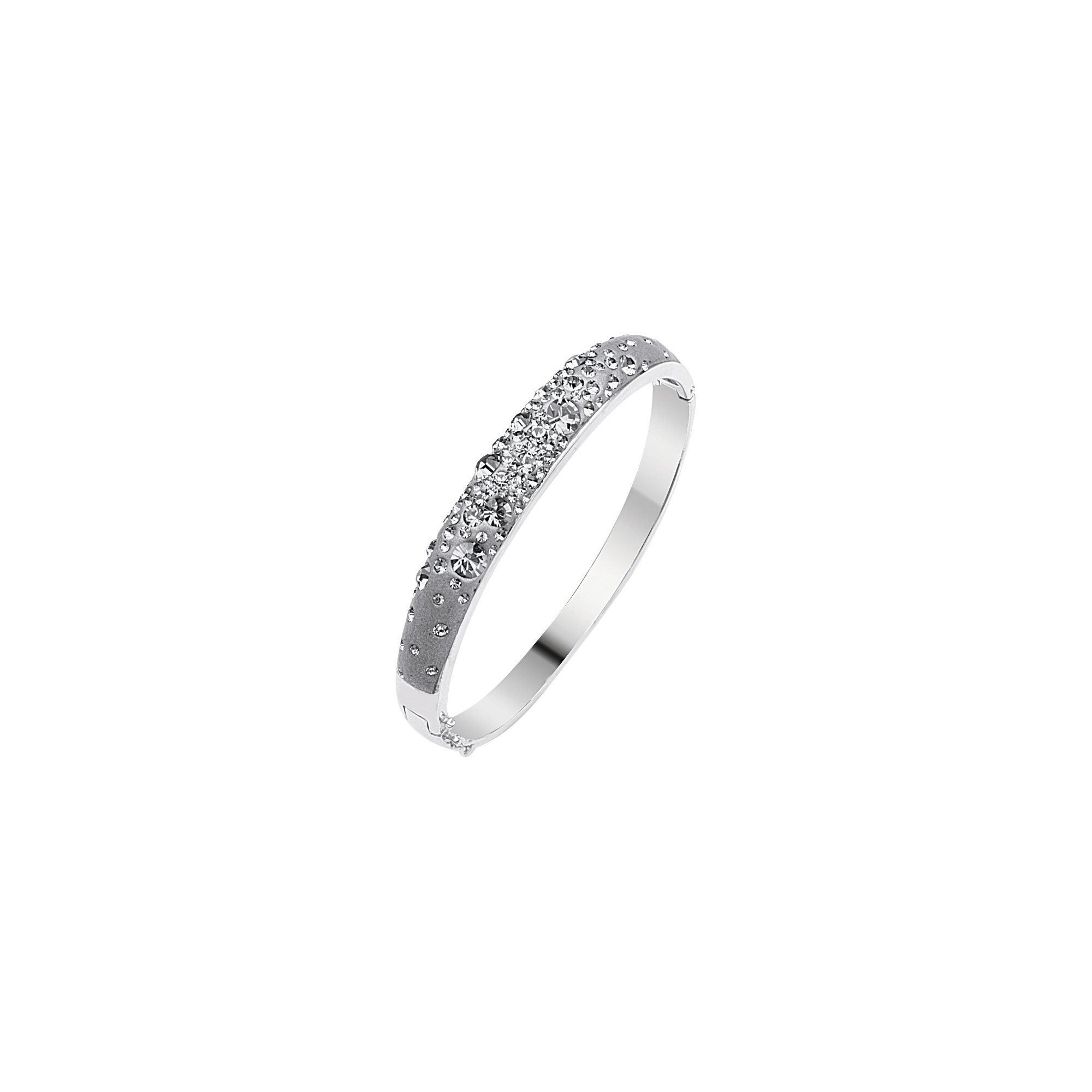Dome Ring, Silver Drk Grey Dome Bangle