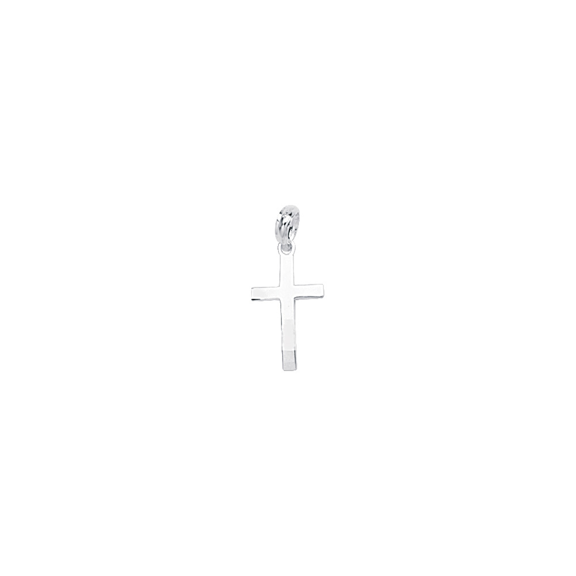 Silver Pendant, Bevelled Cross W/Square Tips
