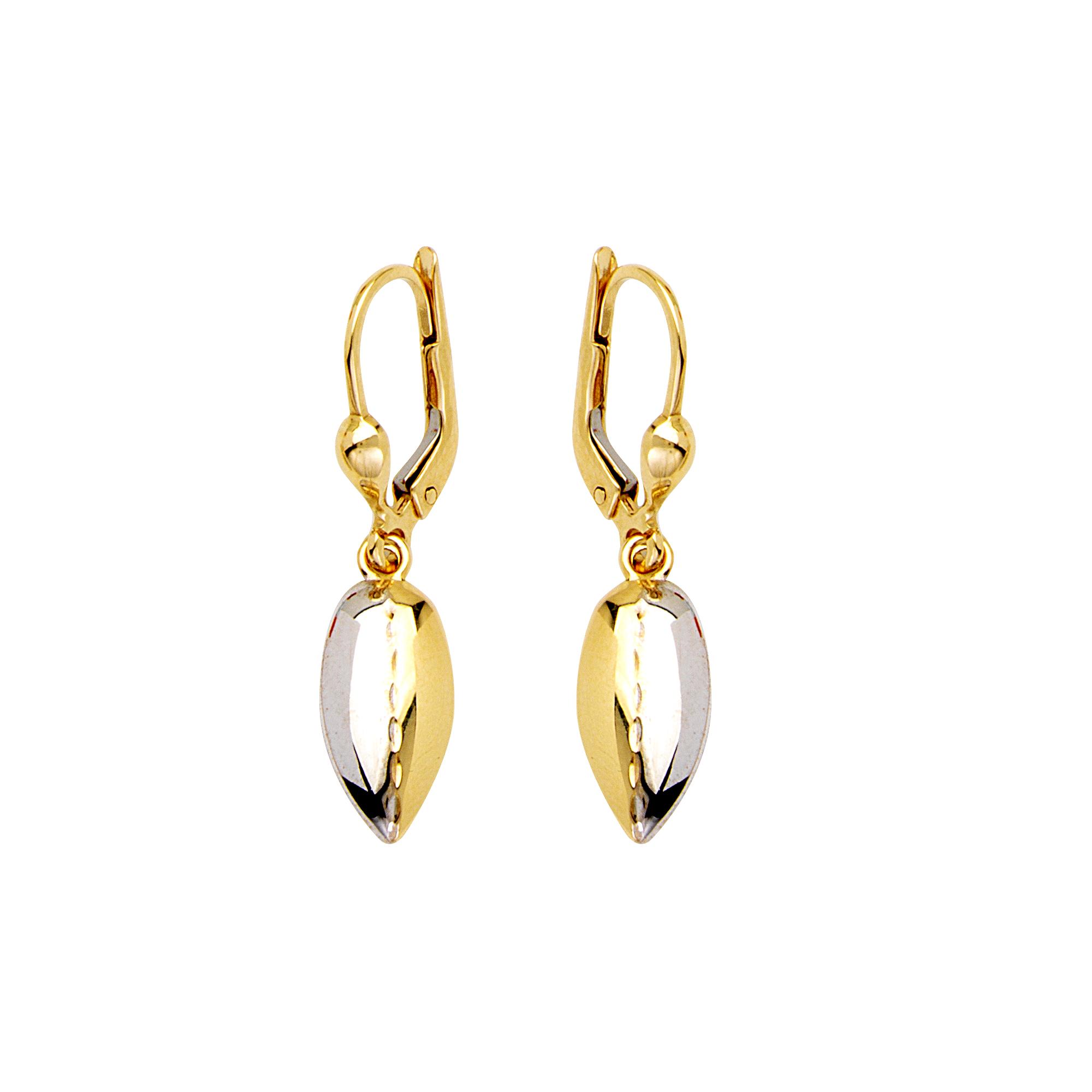 Dangle Earrings, 14Kt Gold Earrings