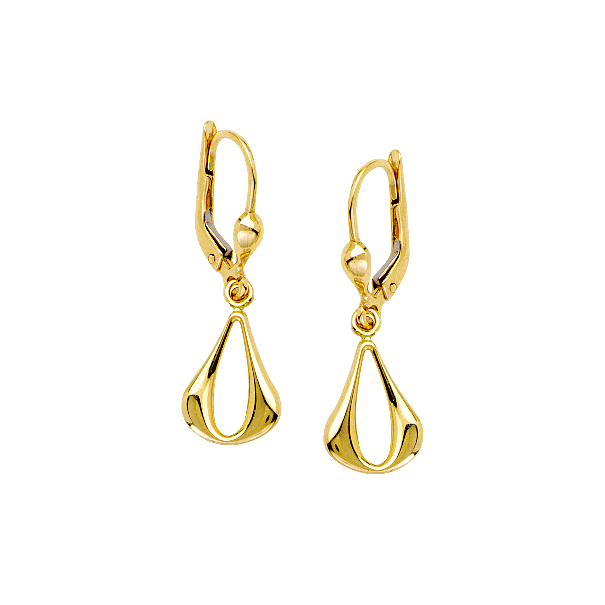 Dangle Earrings, 14Kt Gold  Teardrop Dangle Earring