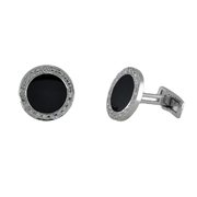 14K White Gold Men'S Cufflinks.  0.48Ct